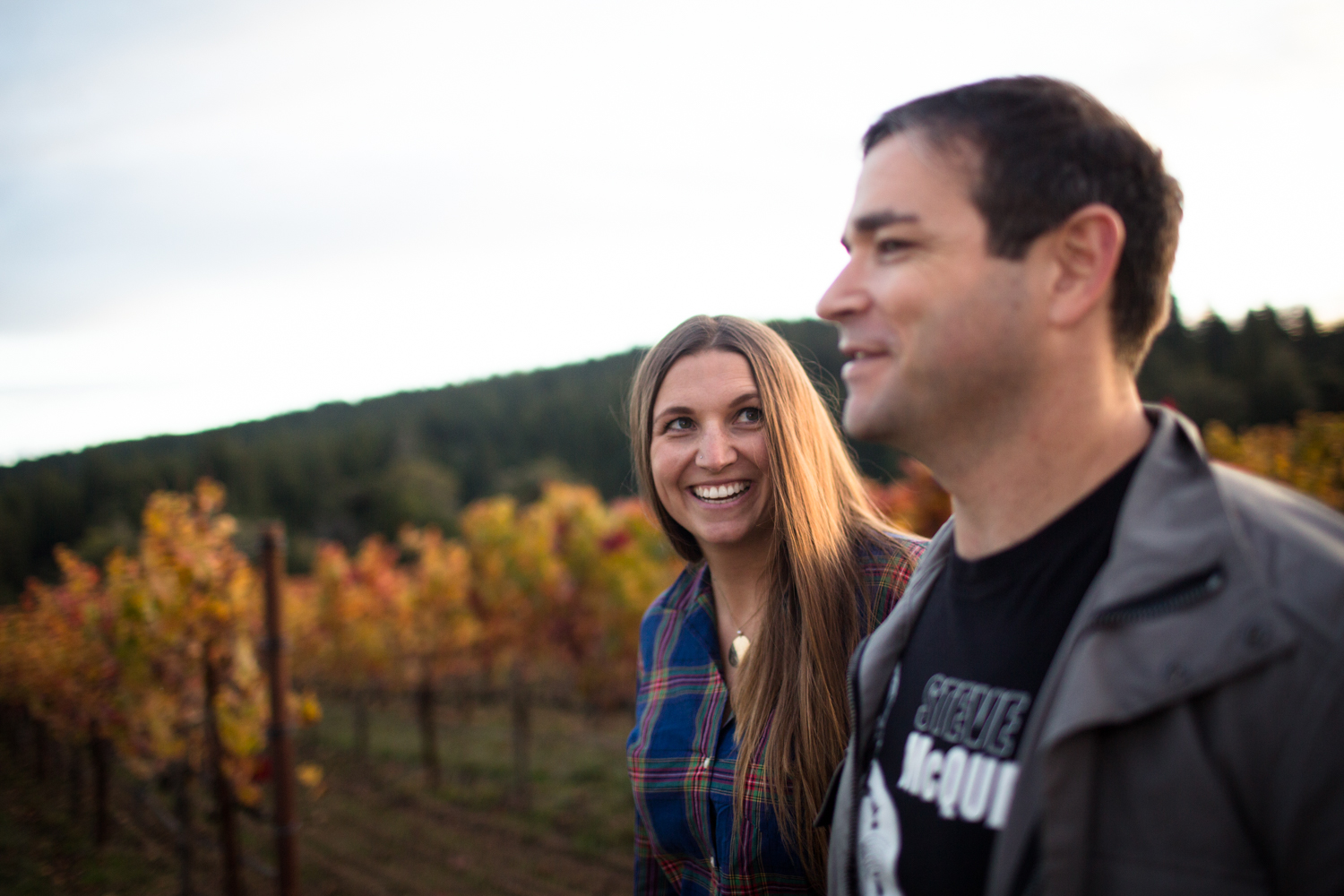 engagement session photos anderson valley philo