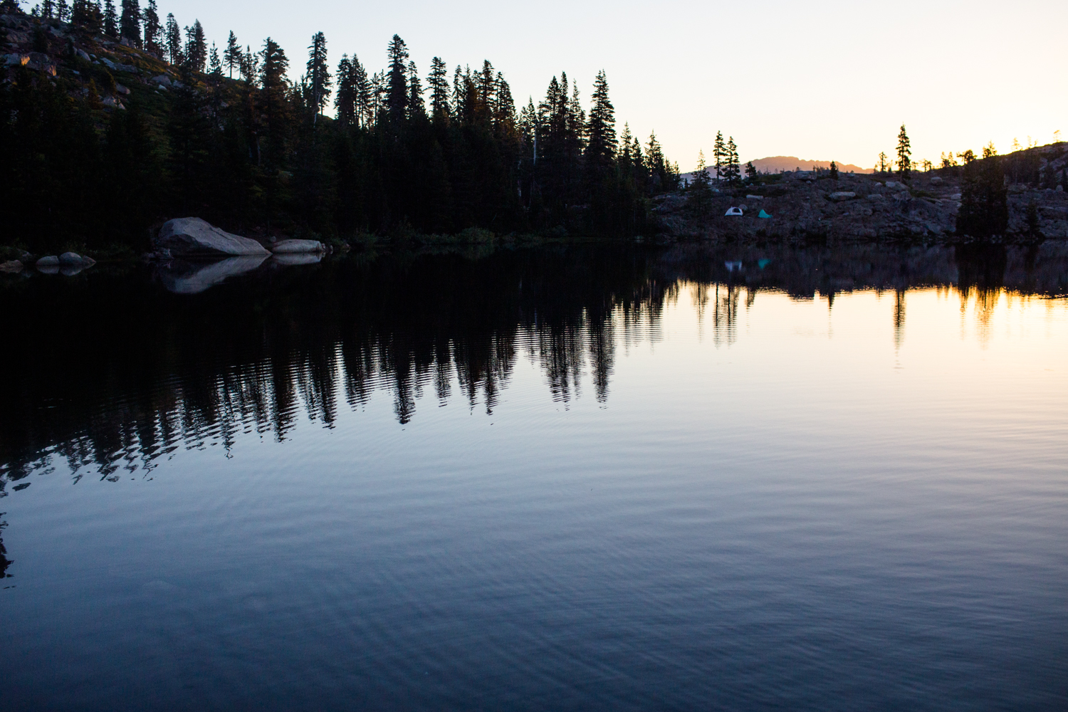 ripples on island lake tahoe national forest