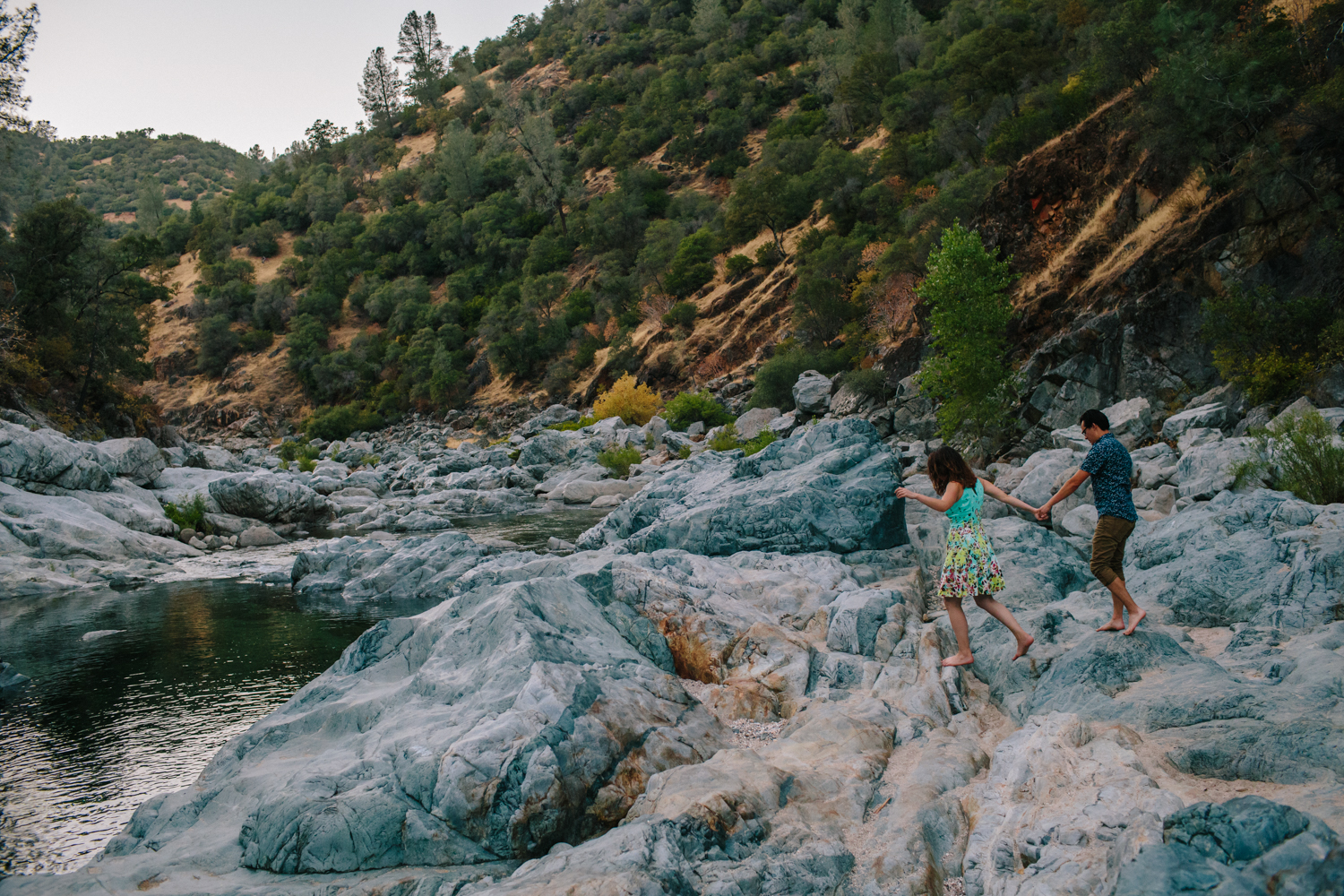 south yuba river engagement session penn valley grass nevada city