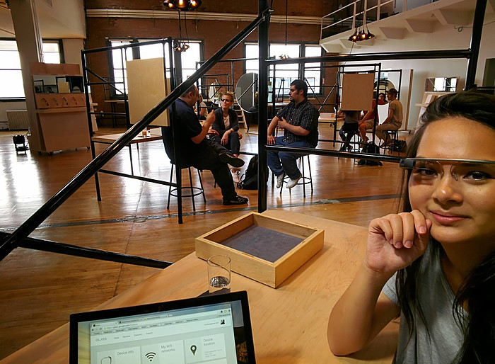 My first photo taken with Google Glass at Google Basecamp in Chelsea.