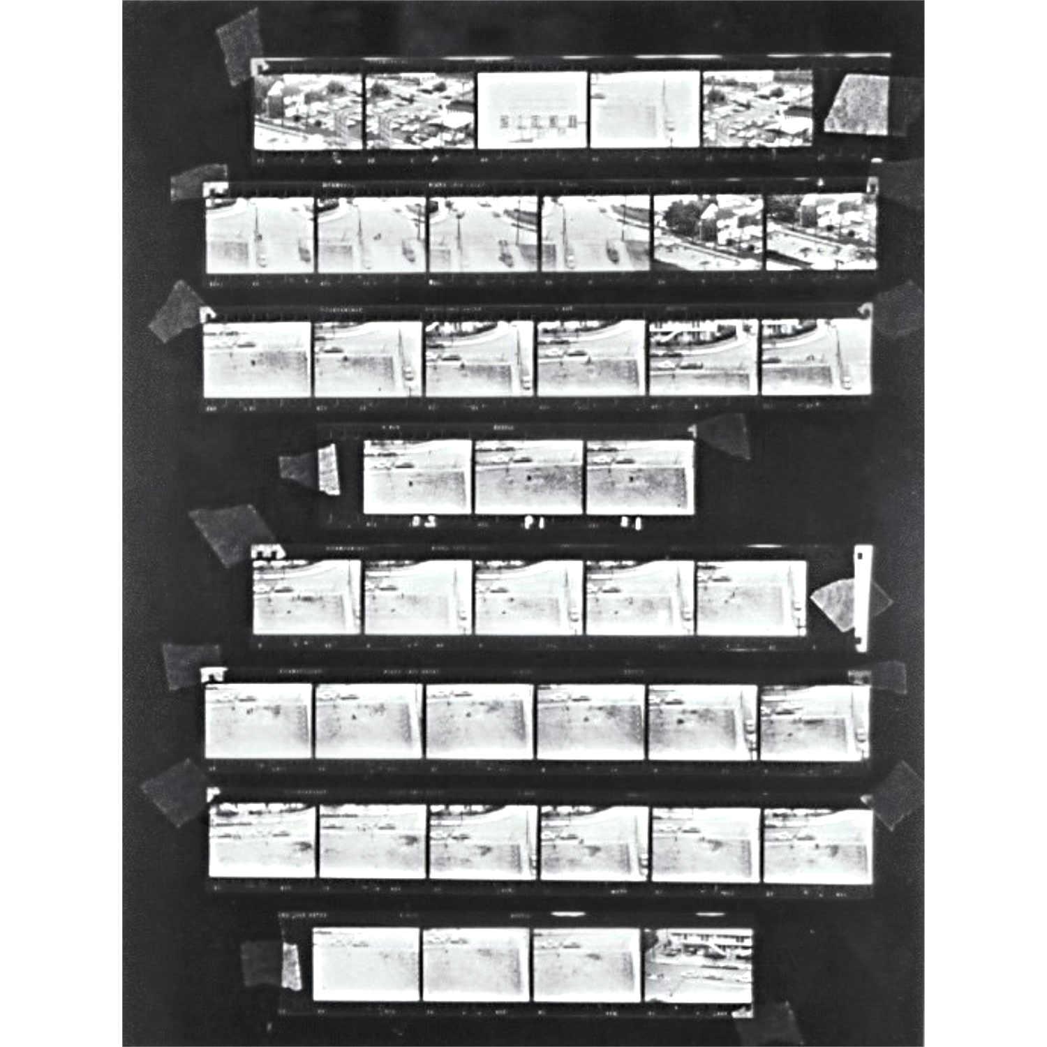Original  Contact Print 1977. Images are reversed.