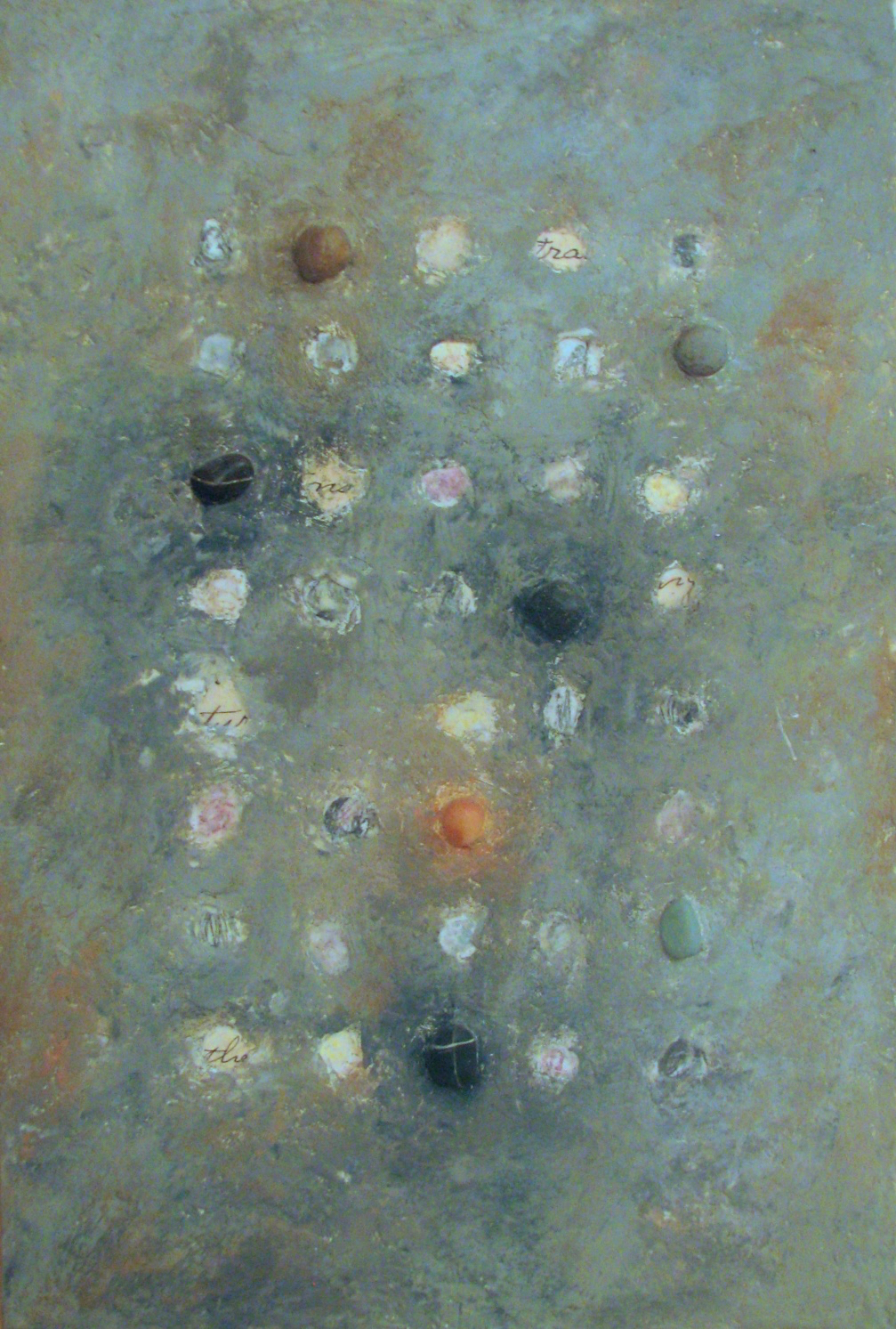 Untitled Encaustic with Stones