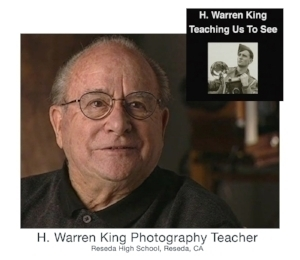 Mr. King, as he was known to his students, was a legendary teacher. In addition to his high school classes, he taught adult evening classes in which I had the privilege of learning technical darkroom skills. This  video  tribute includes stories of his years as a young wartime photographer and remembrances of his unique teaching style.
