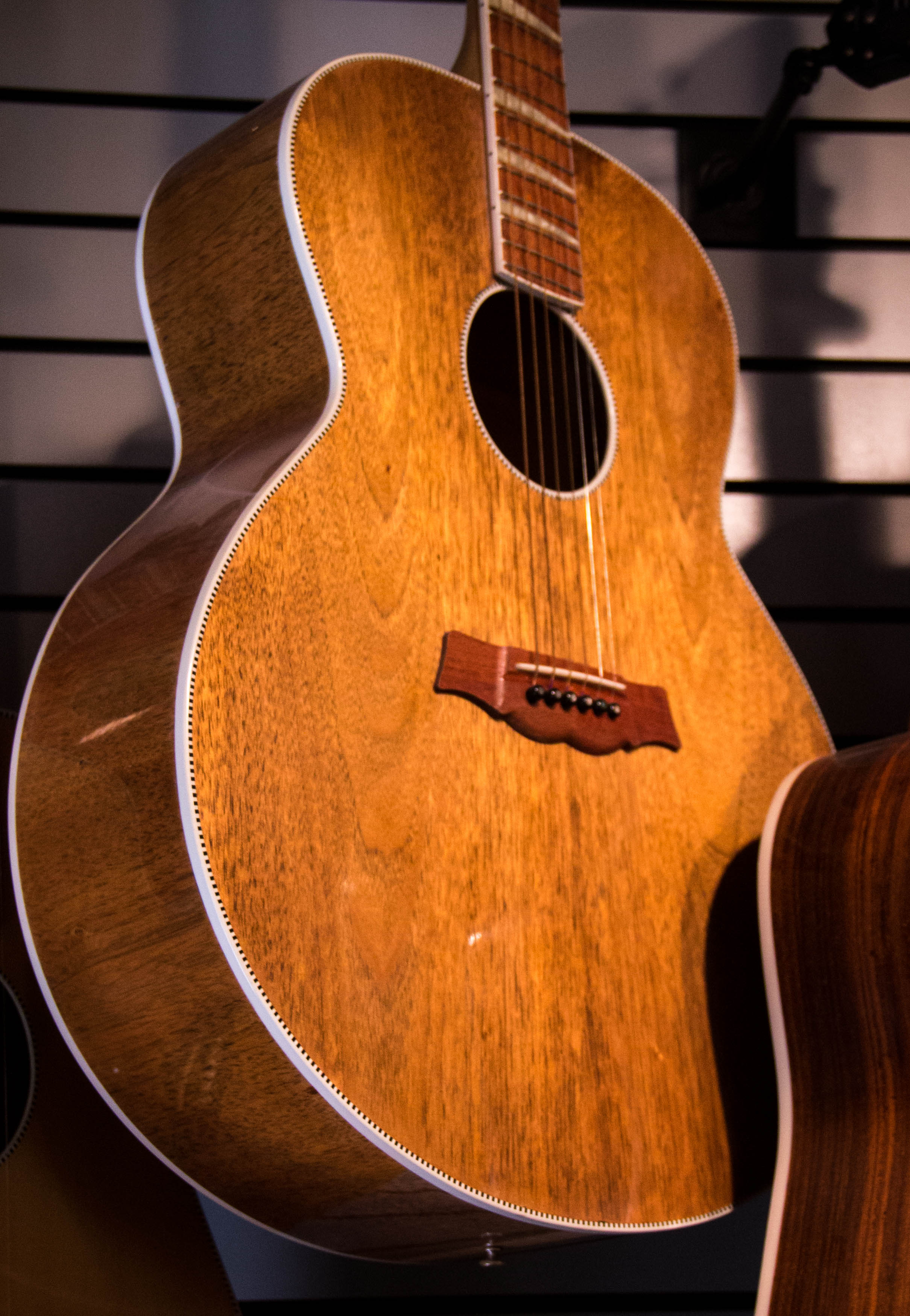 This acoustic guitar was crafted from the desk of Rickenbacker's longtime CEO, the late F.C. Hall. Hall was head of Rickenbacker from 1954 to 1984.