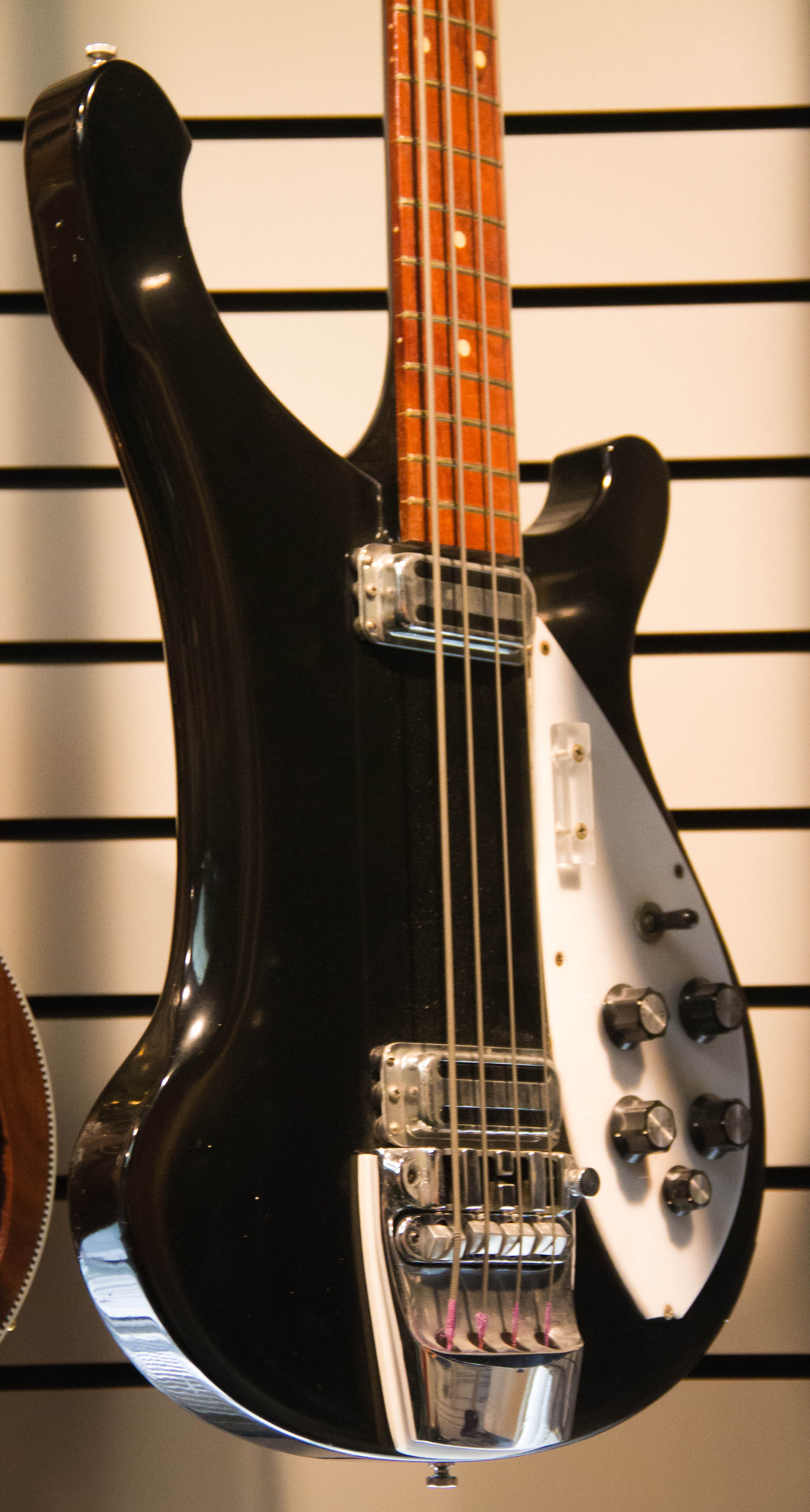 "The ""Experimental 4001s"". This prototype bass was used on-stage by John Paul Jones with Led Zeppelin in early 1969. Perhaps Jones was ""field-testing"" the model for the company?"