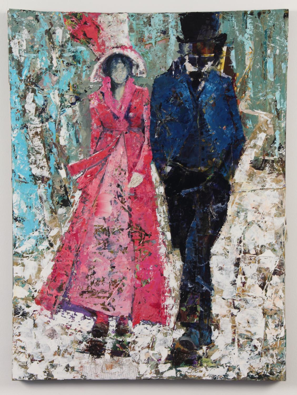 Keats and Fanny, 40 x 30, Mixed Media