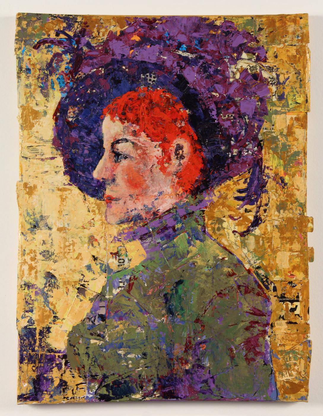 Violet. 18 x 24, Mixed Media