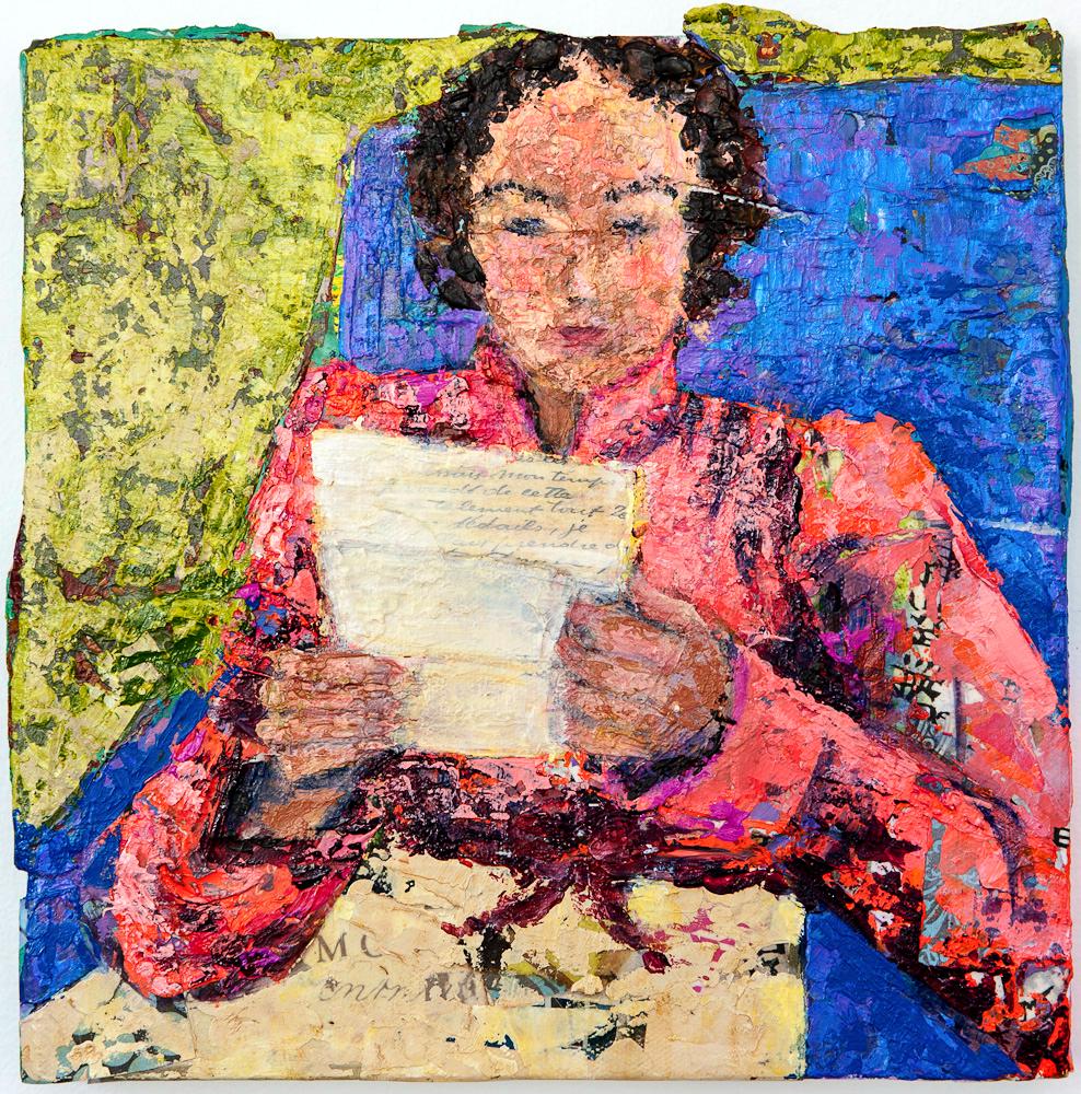 Miss Elizabeth, 12 x 12, Acrylic on Canvas