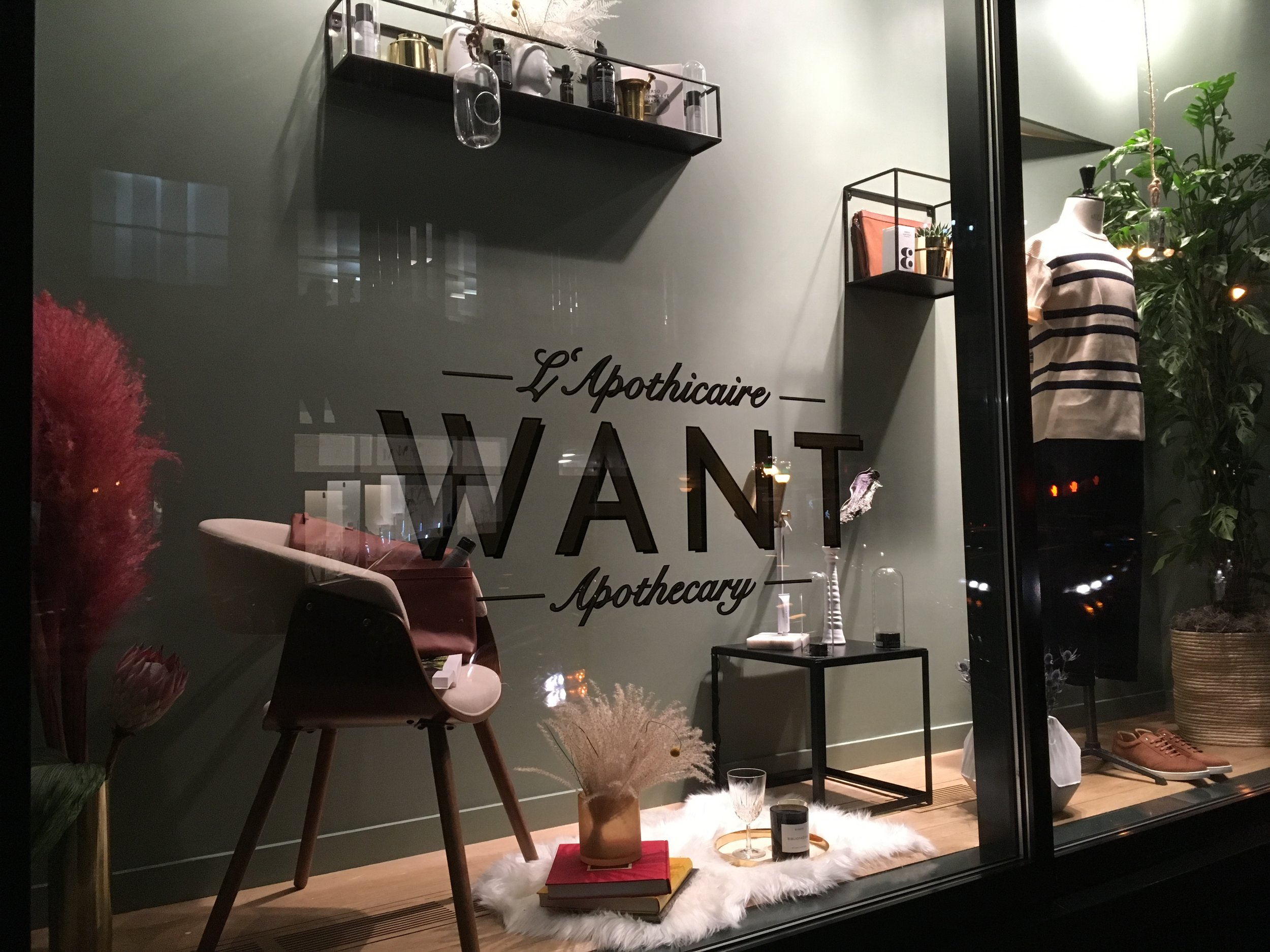 WANT Apothecary Opening Store Windows on Broadway