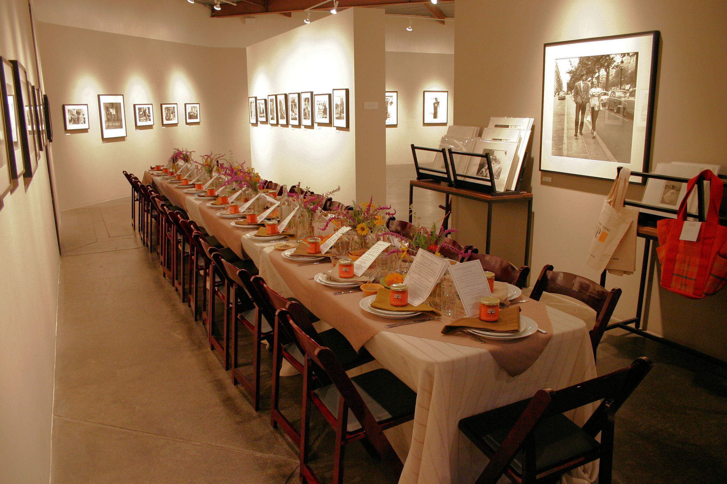 Table Sett in Peter Fetterman Gallery for American Farm Dinner 10-30-12.jpg