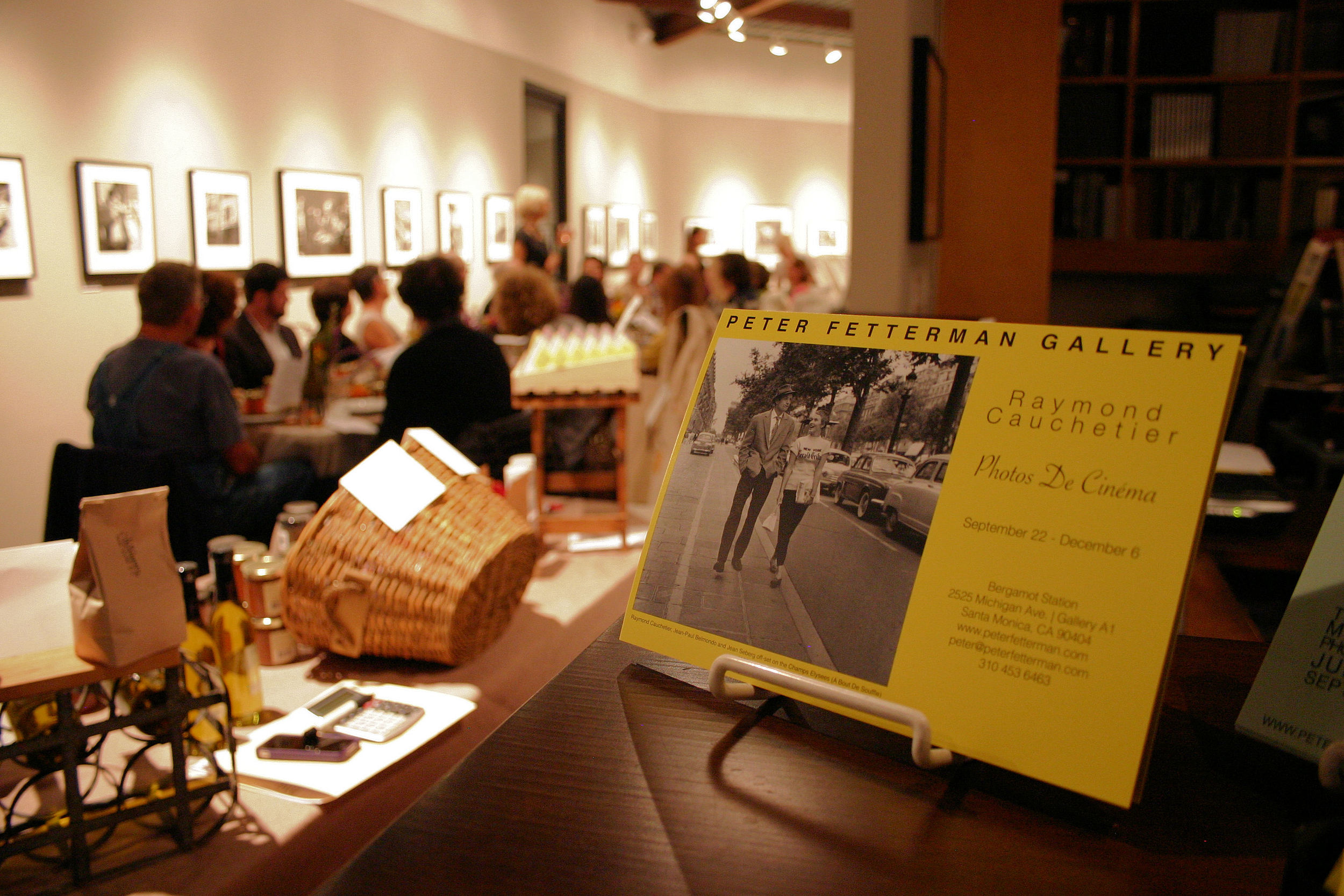 Raymond Cauchetier and American Farm Dinner at PF Gallery.JPG