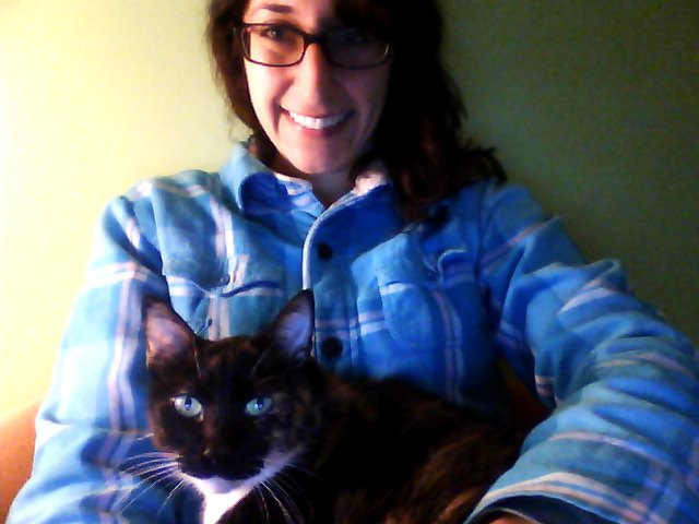 Here's Angie, helping me write this story!