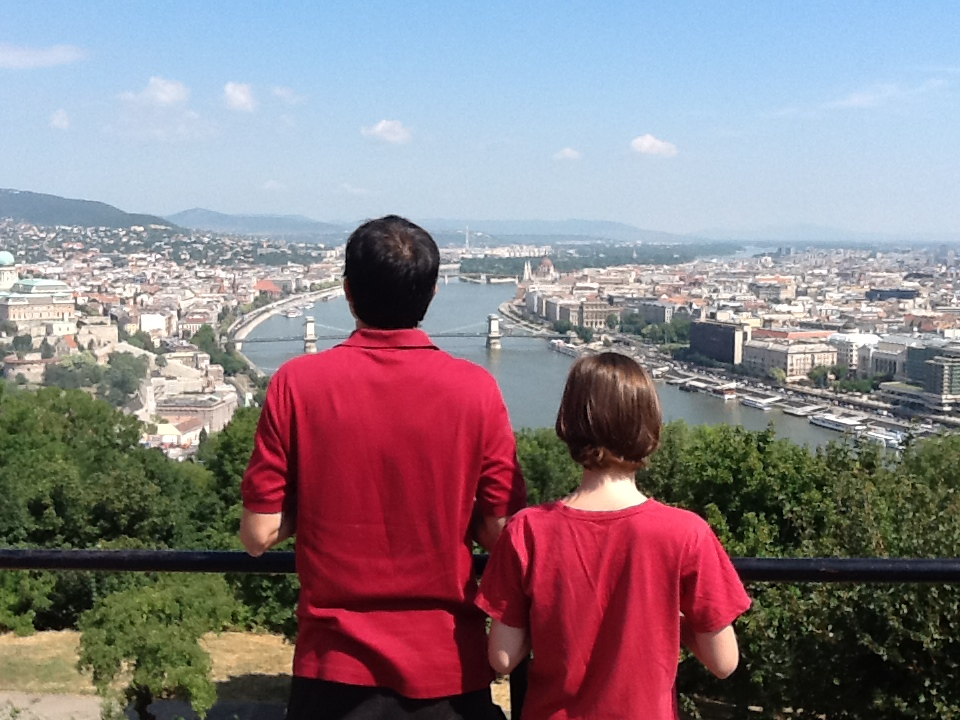 Ken and Titus overlooking the beautiful city of Budapest, home of the Budapest Lectures.