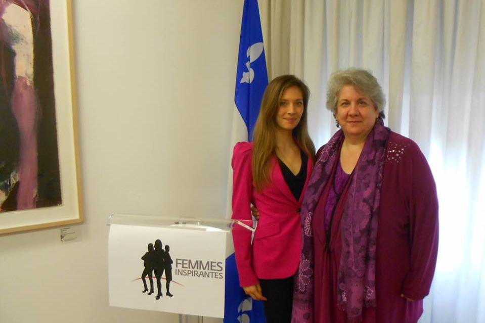 Erika Lemay & Amalia Daniela Renosto, déléguée du Québec en Italie