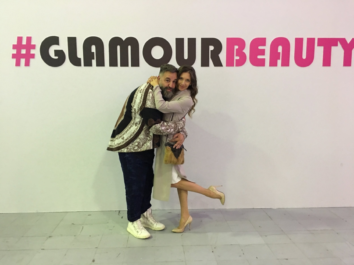 Erika Lemay and Simone Guidarelli at Glamour Beauty Show