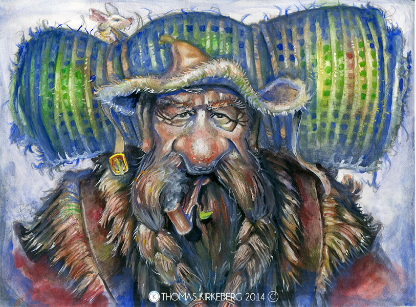 The wandering dwarf now in lovely watercolour!
