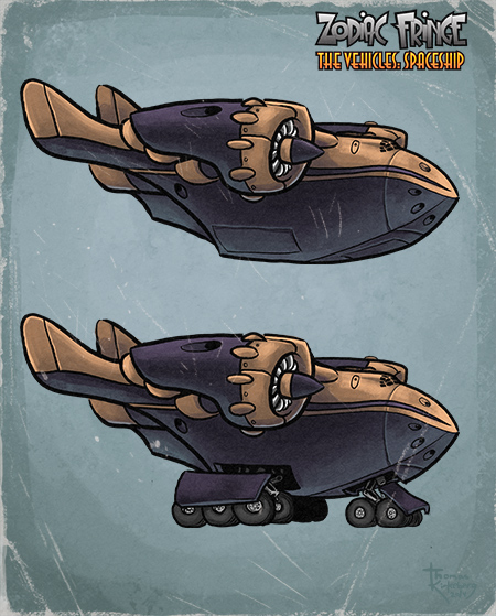 Zodiac Fringe: The Vehicles - Spaceship