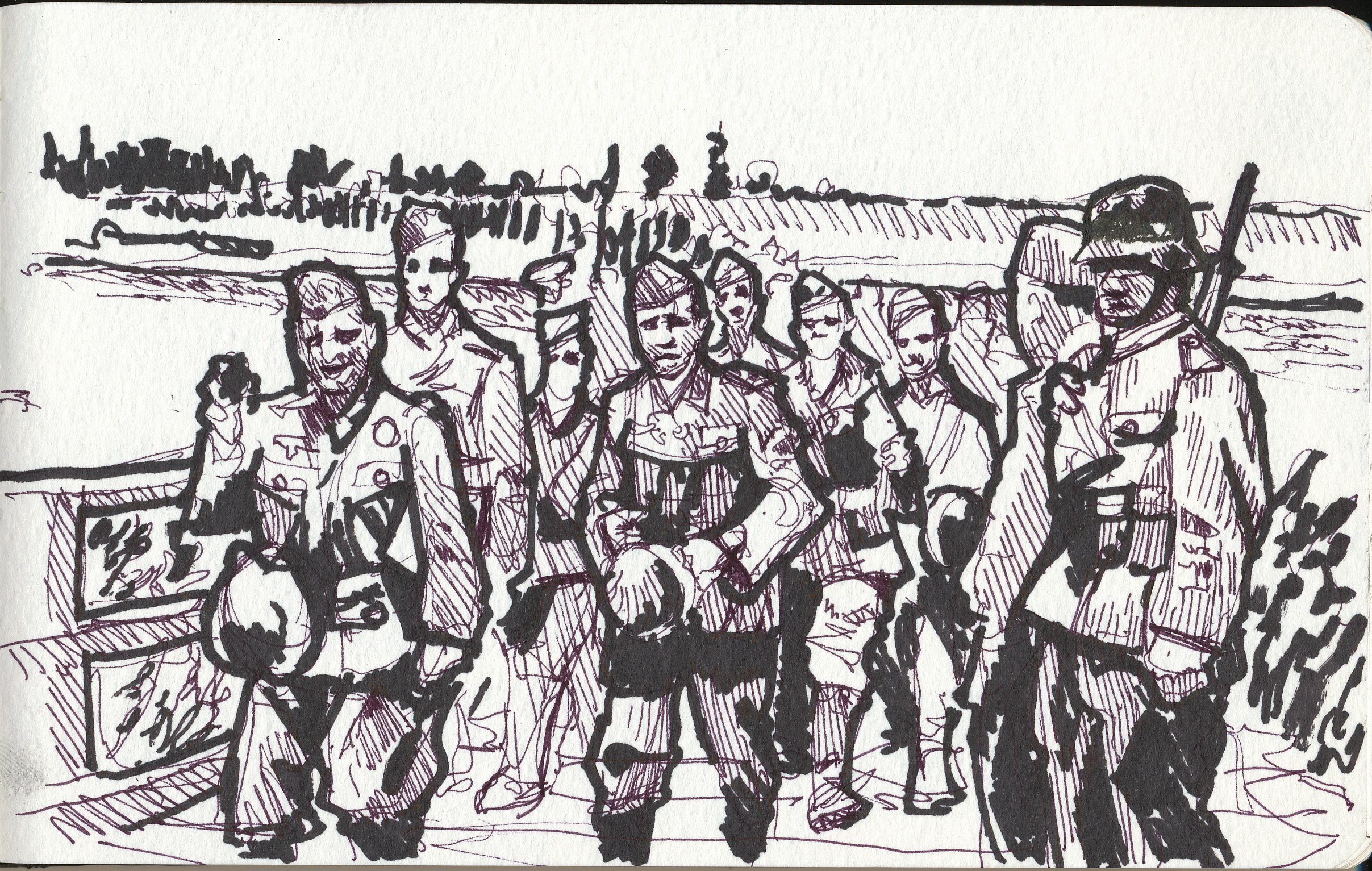 German troops on the march in World War 2