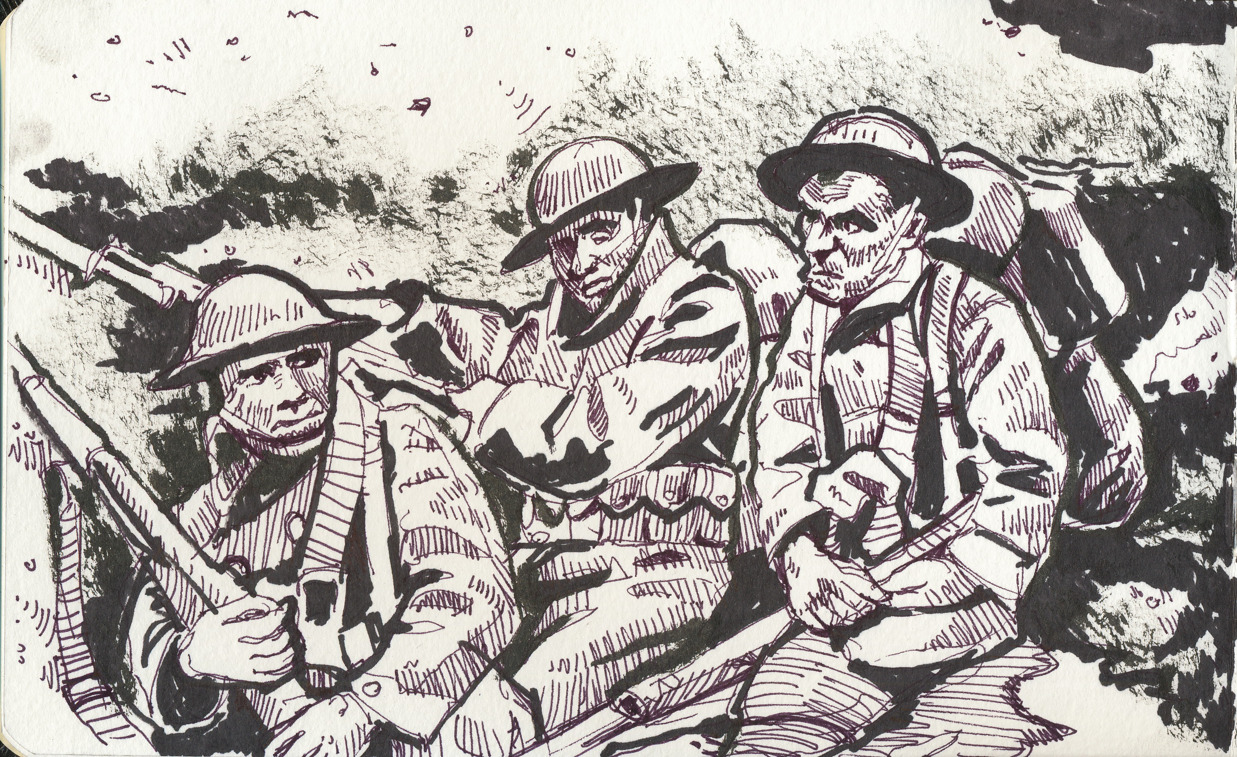 American troops in the trenches of World War 1