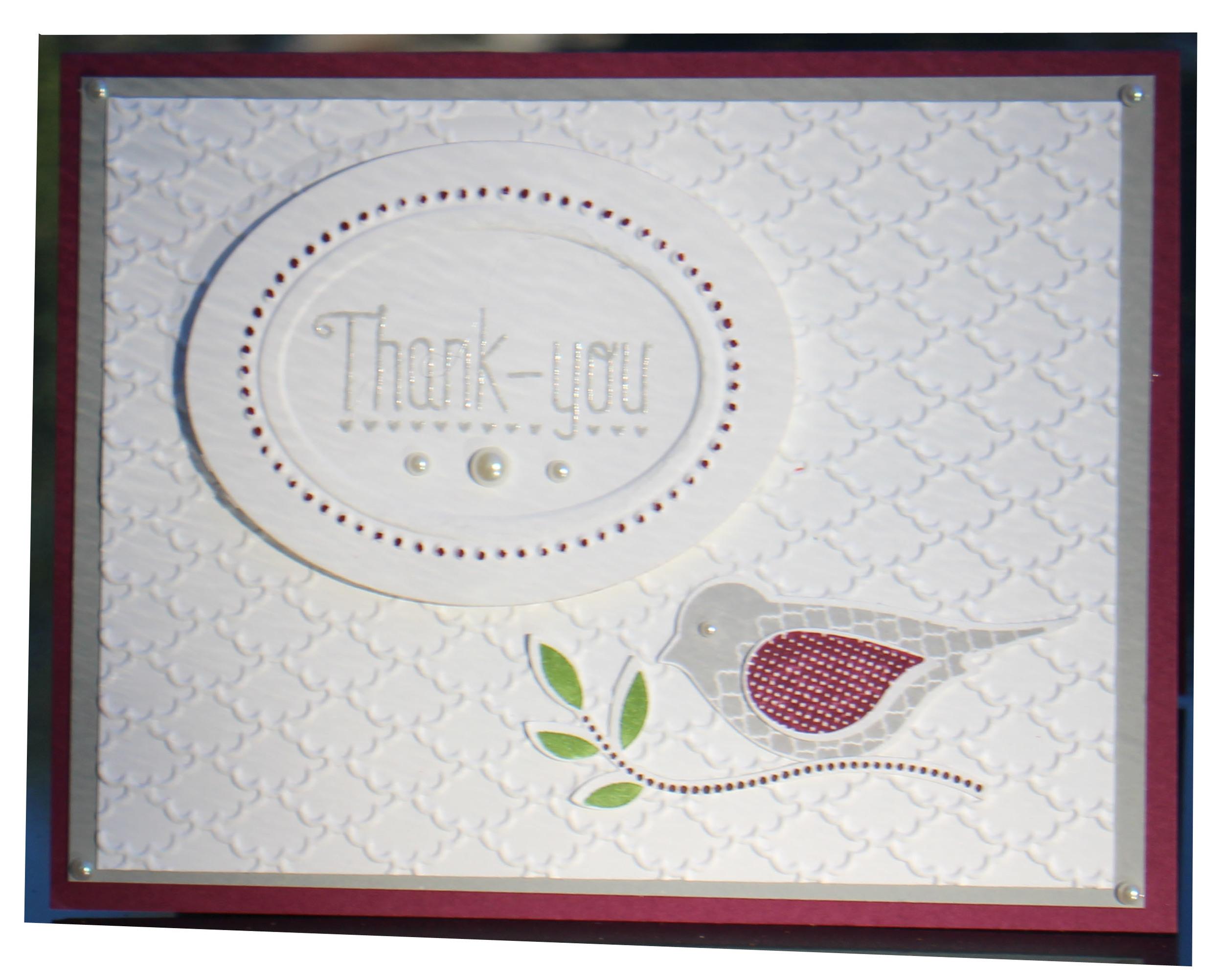 a tweet thank you...