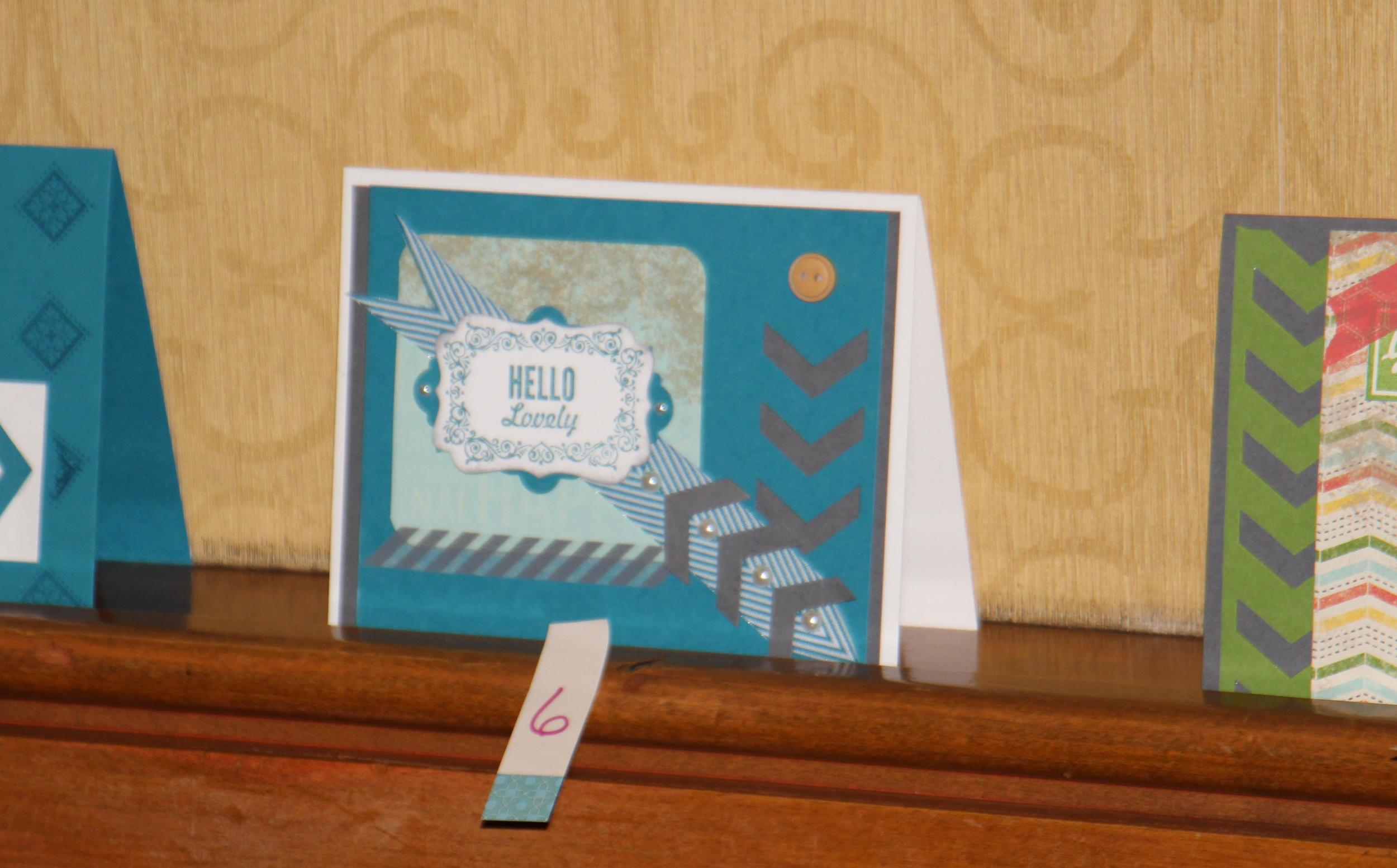 finished  card  - Chopped Card Challenge
