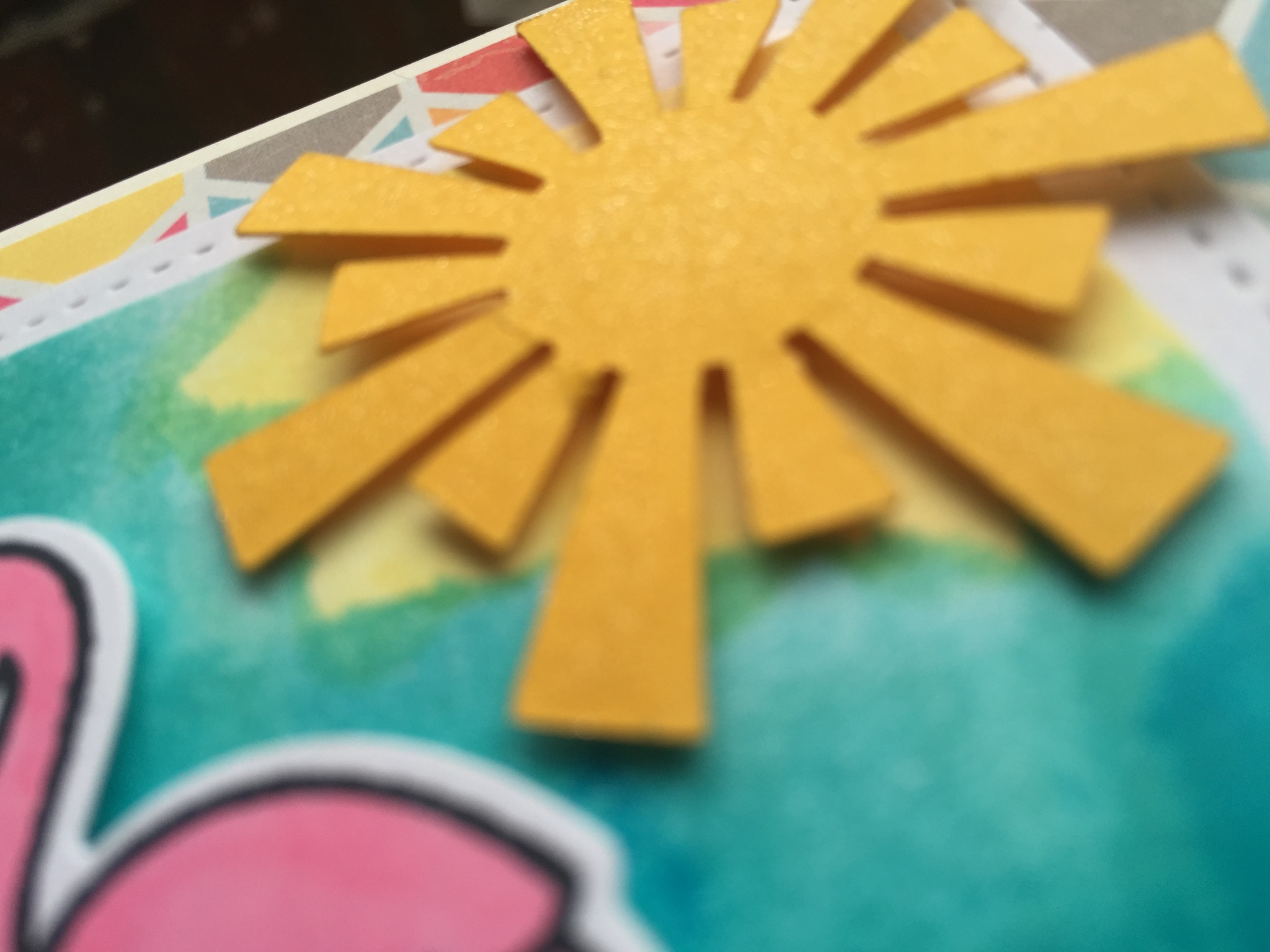 I used a glimmer pen on the sun for an added pop...
