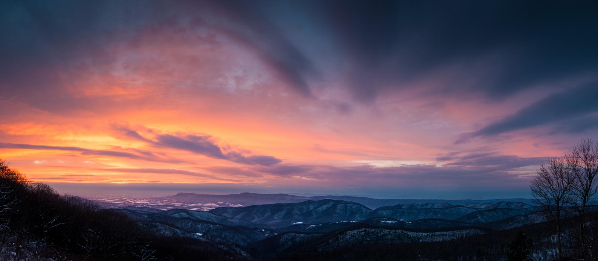 Skyline Drive Sunset