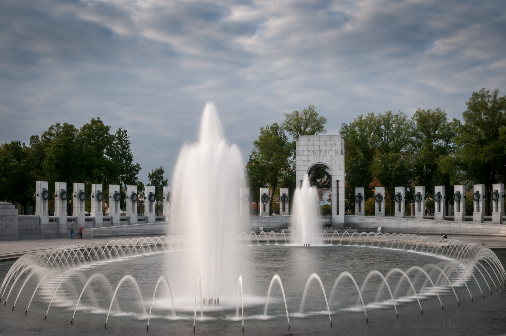 National World War II Memorial Water Fountains