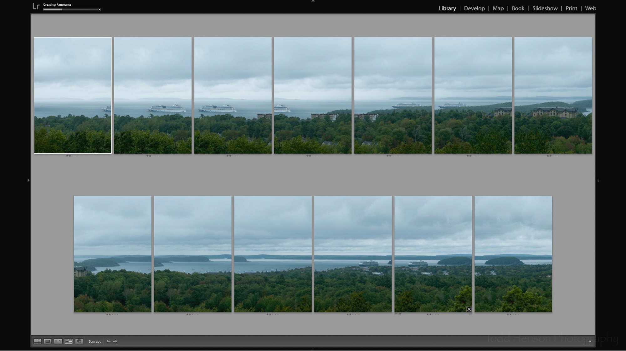 Step 6: Lightroom creates the panorama