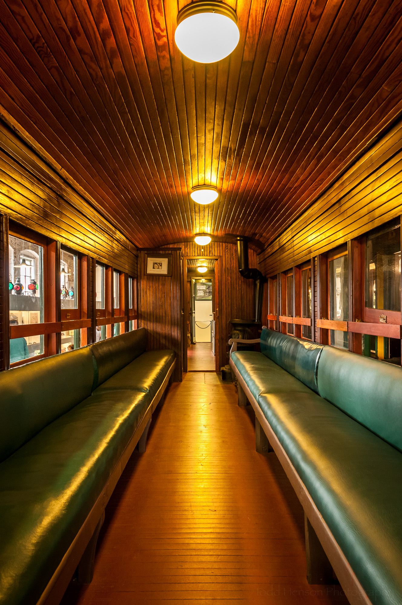 Another interior of passenger train with stove (3 image HDR)