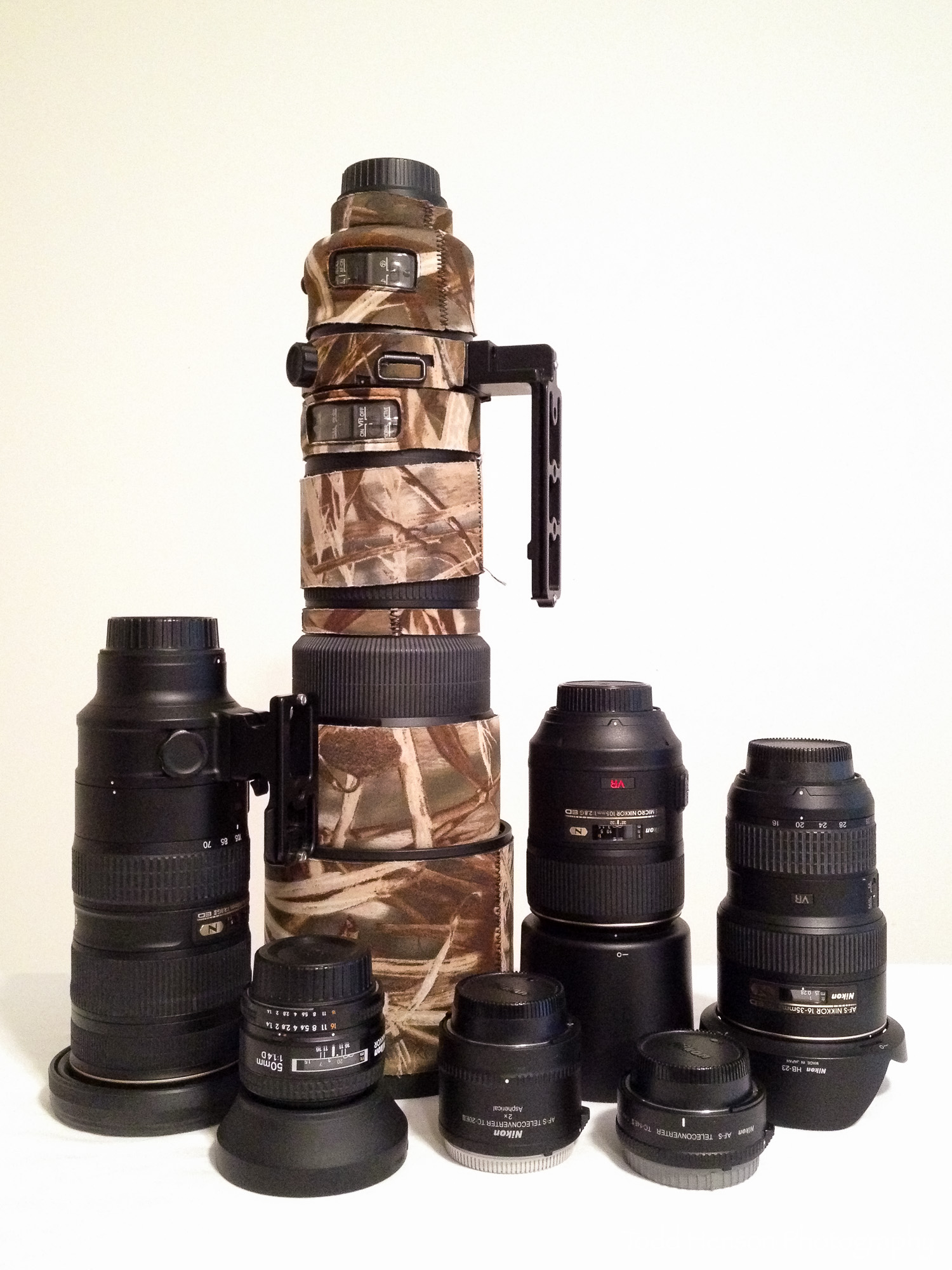 Selection of SLR lenses