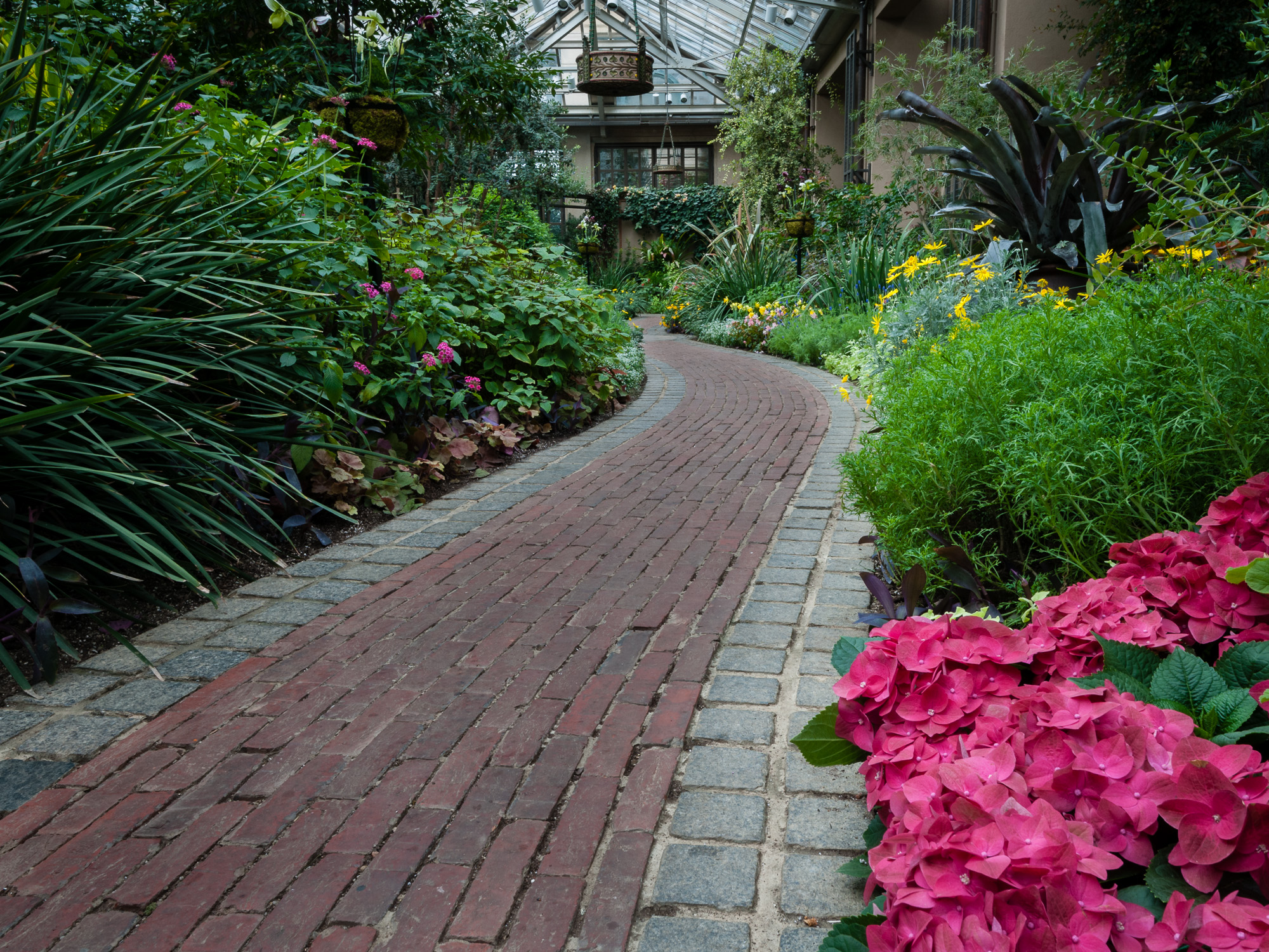 4: Brick path through Conservatory at Longwood Gardens