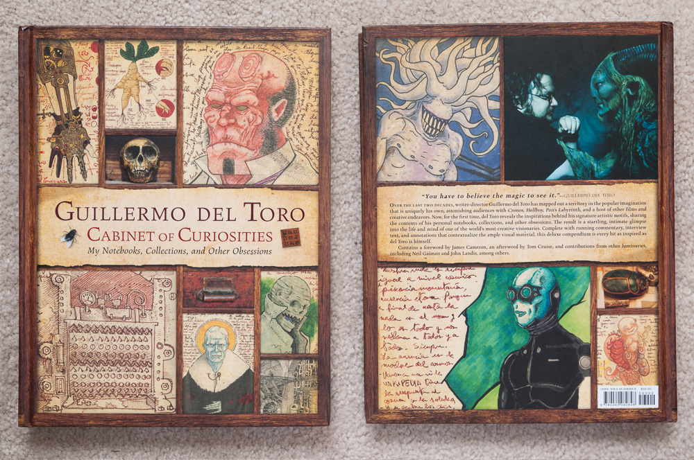 Front and back cover of  Guillermo del Toro: Cabinet of Curiosities