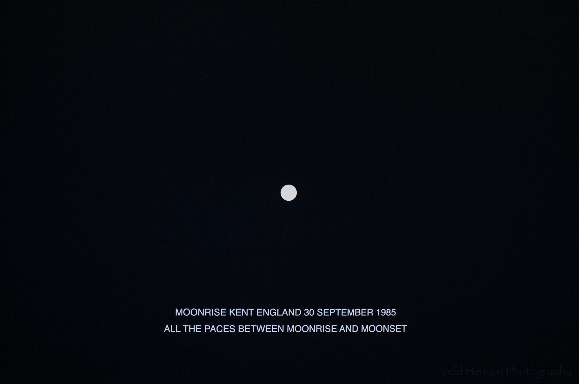 Moonrise Kent England, 30 September 1985, painting by Hamish Fulton in the Smithsonian Hirshhorn Museum