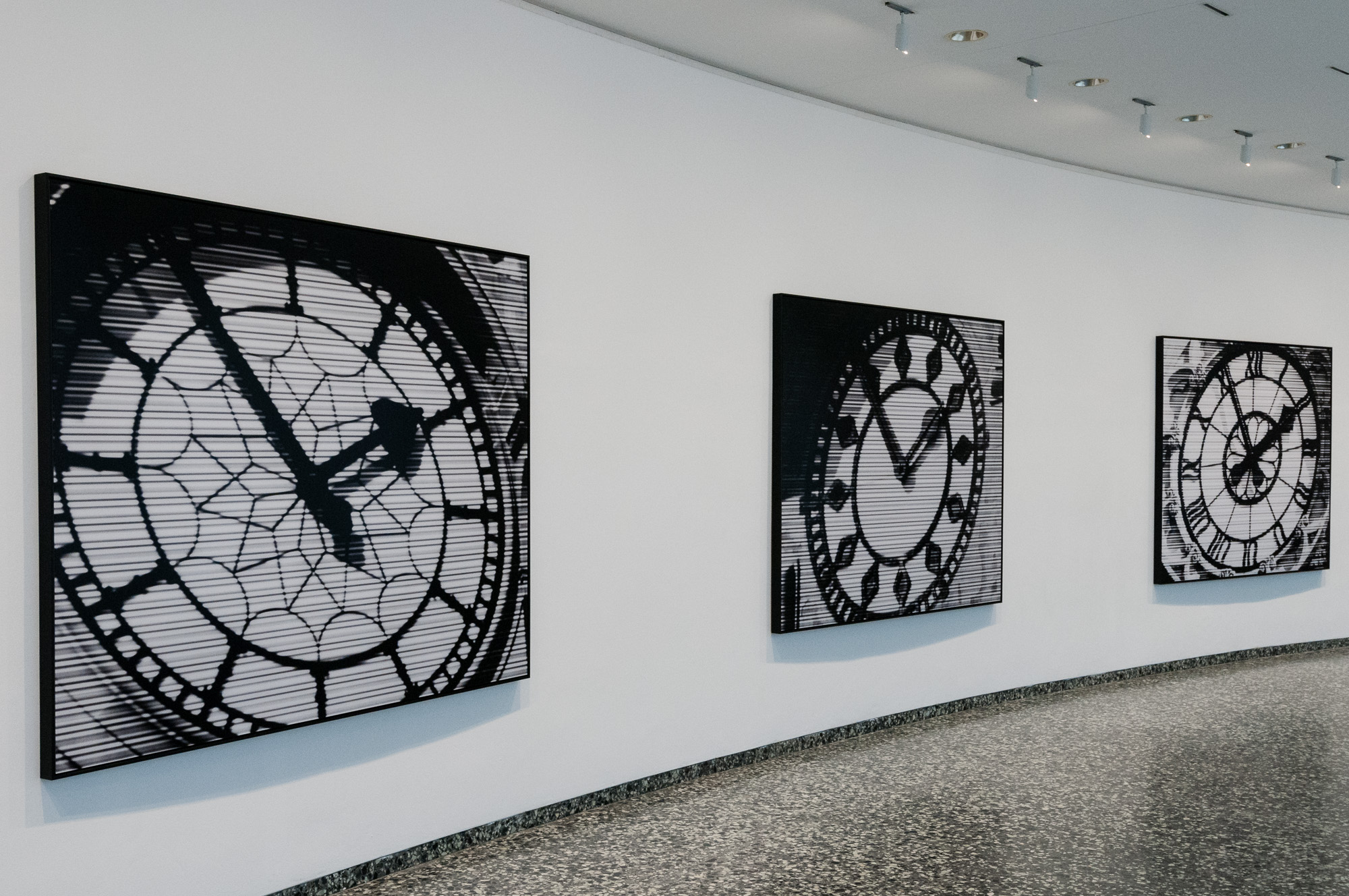 World Time Clock by Bettina Pousttchi in the Smithsonian Hirshhorn Museum