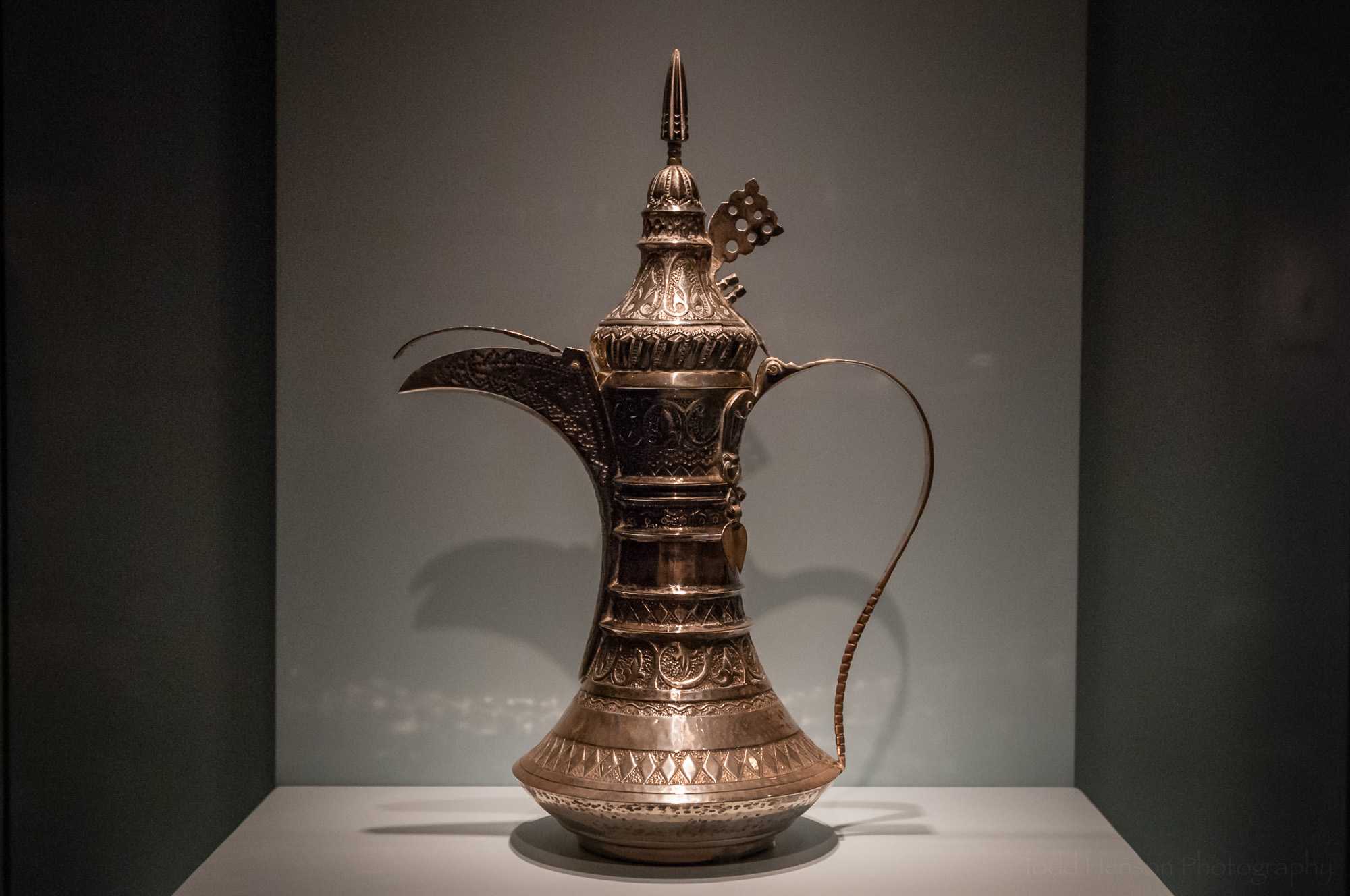 Silver coffee pot from the Sultanate of Oman