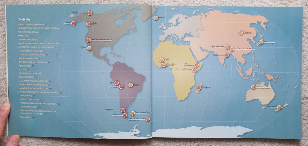 A map of the locations the crew travelled to in   Travels to the Edge  .