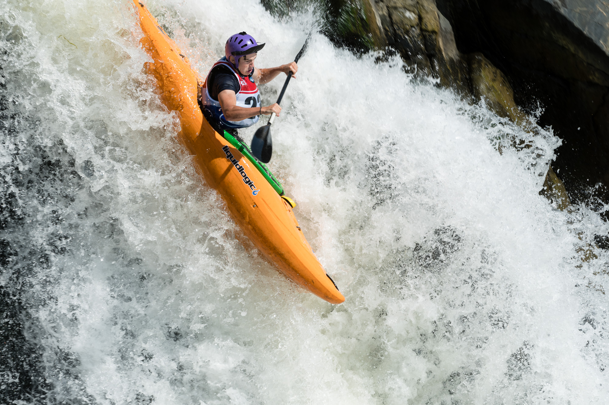 Taylor Pittman Kayaking The Crack at Great Falls