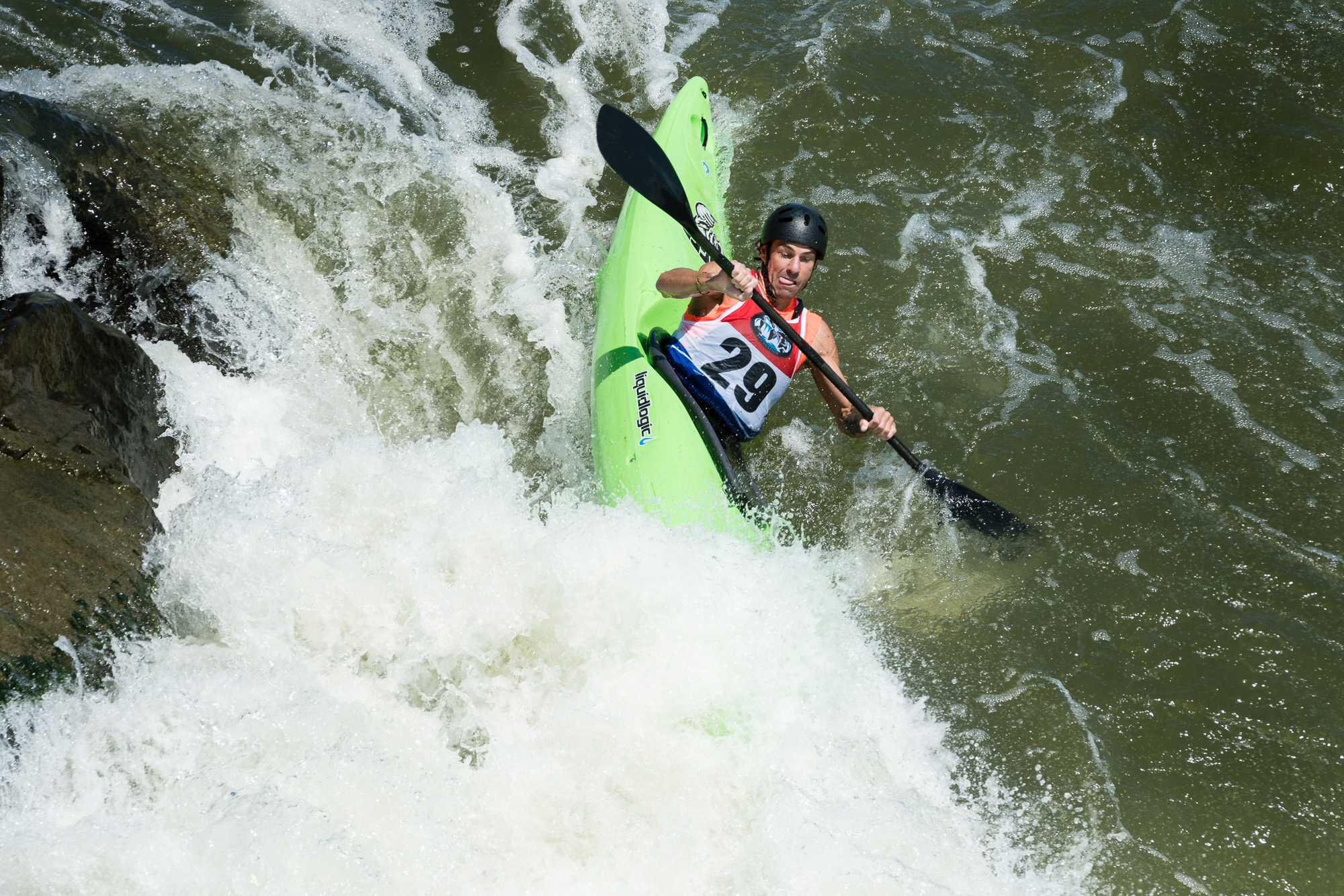 Scott Parsons Kayaking The Spout at Great Falls