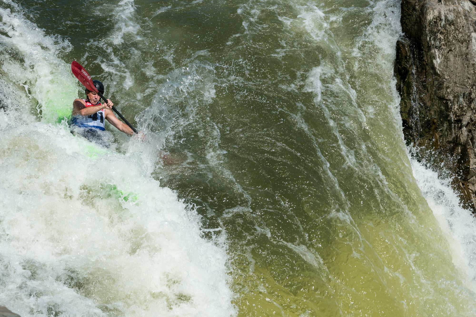 Alex Markoff Kayaking The Spout at Great Falls