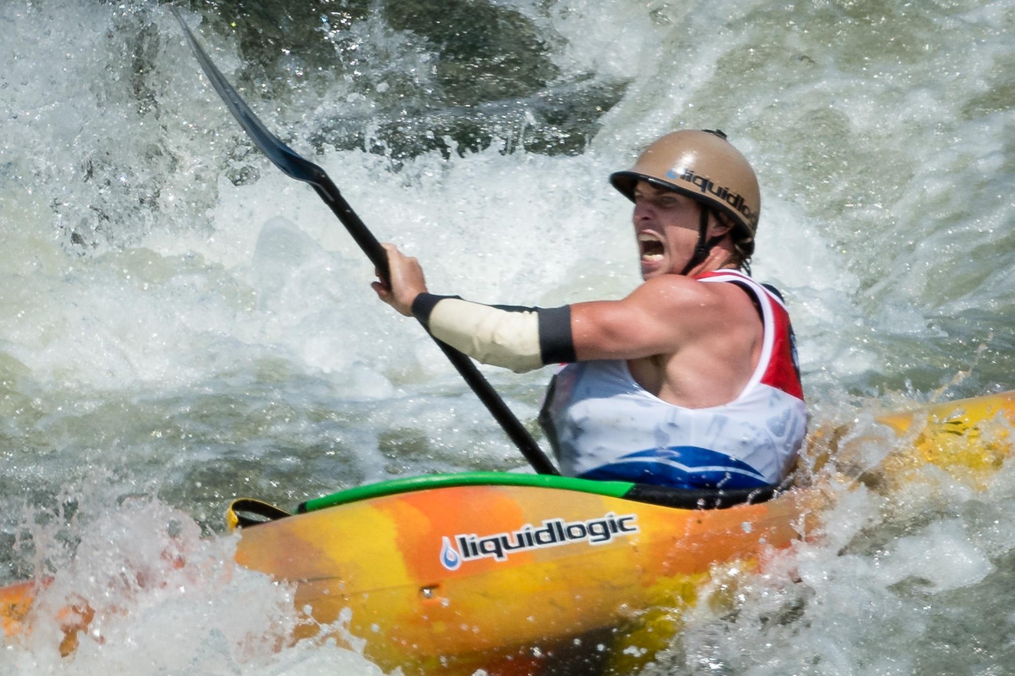 Pat Keller Enters the S-Turn at Great Falls