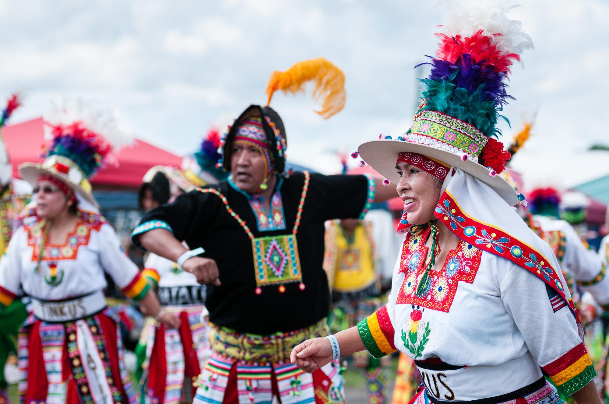Tinkus Tiataco performing a Tinkus dance.