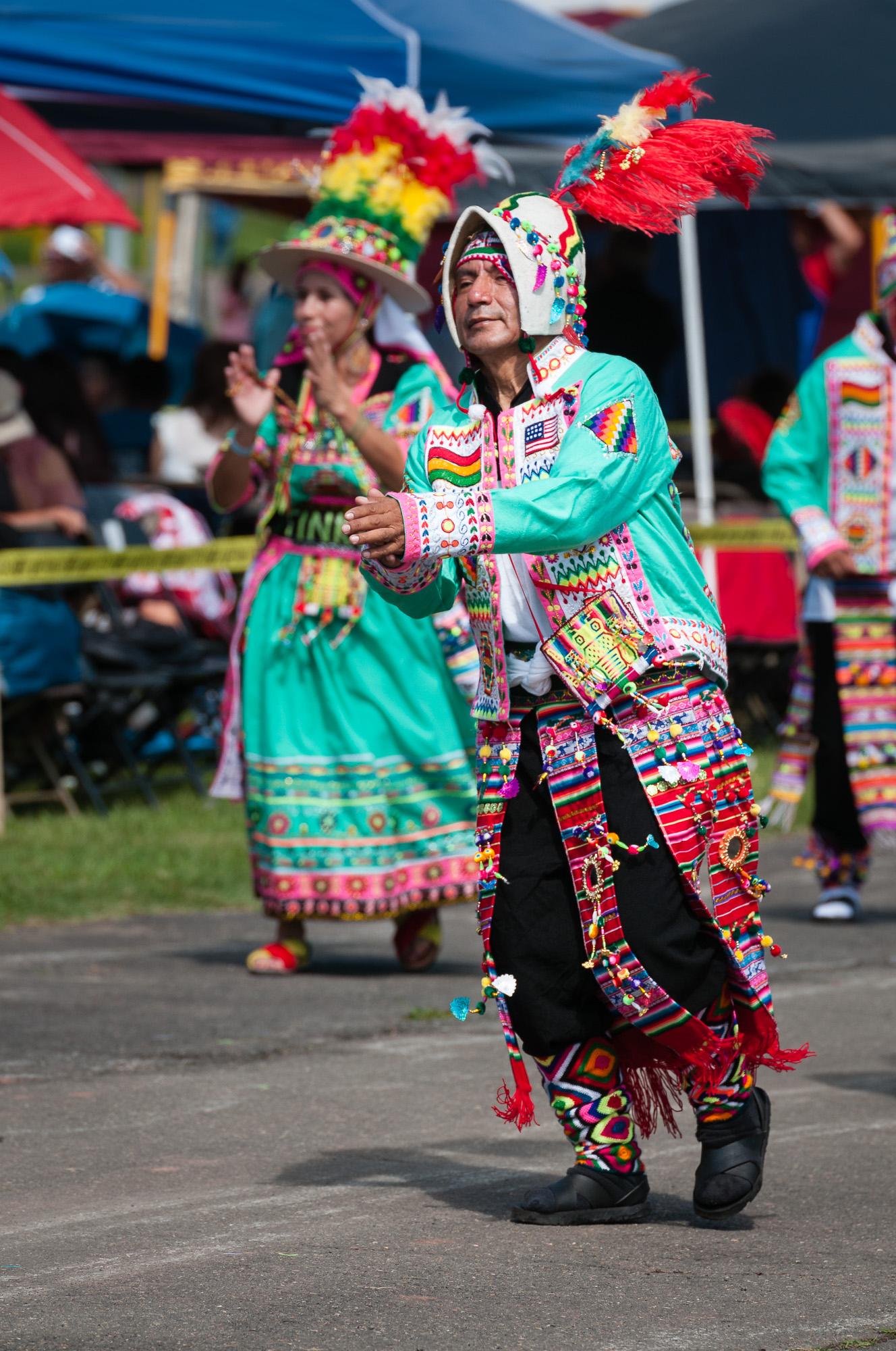 Tinkus Bolivia performing a Tinkus dance.