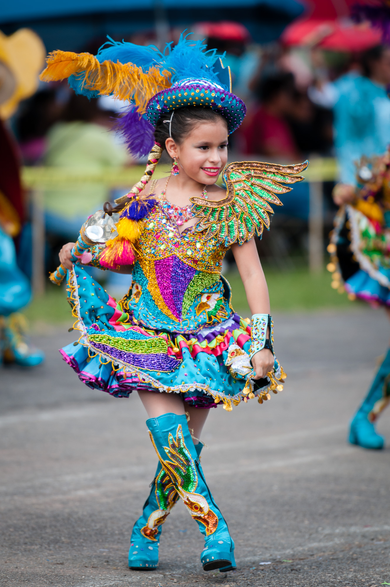 There were performers of all ages, including this young one from Morenada Central VA USA performing a Morenada dance.