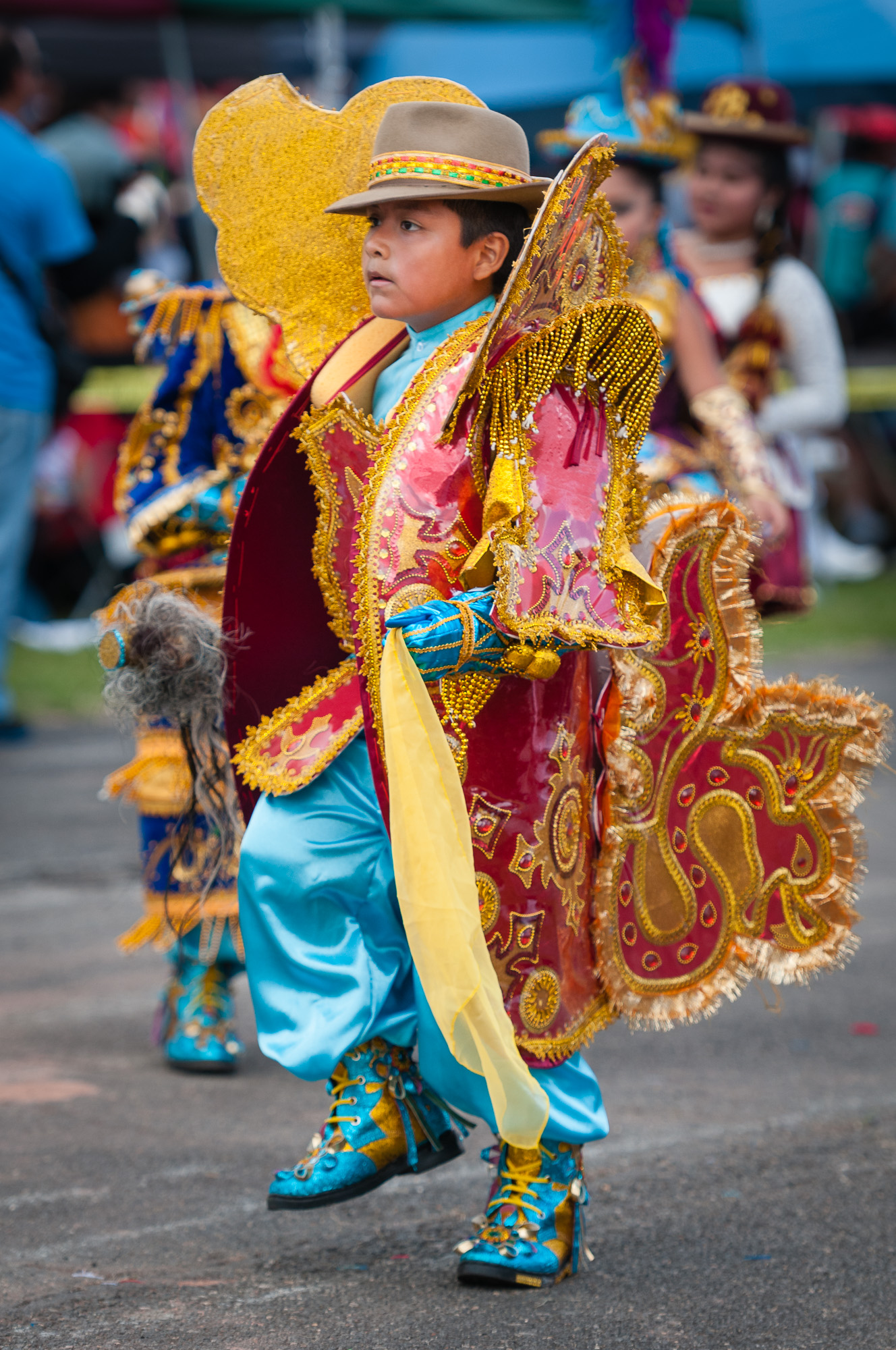 Another young performer from Morenada Central VA USA performing a Morenada dance.