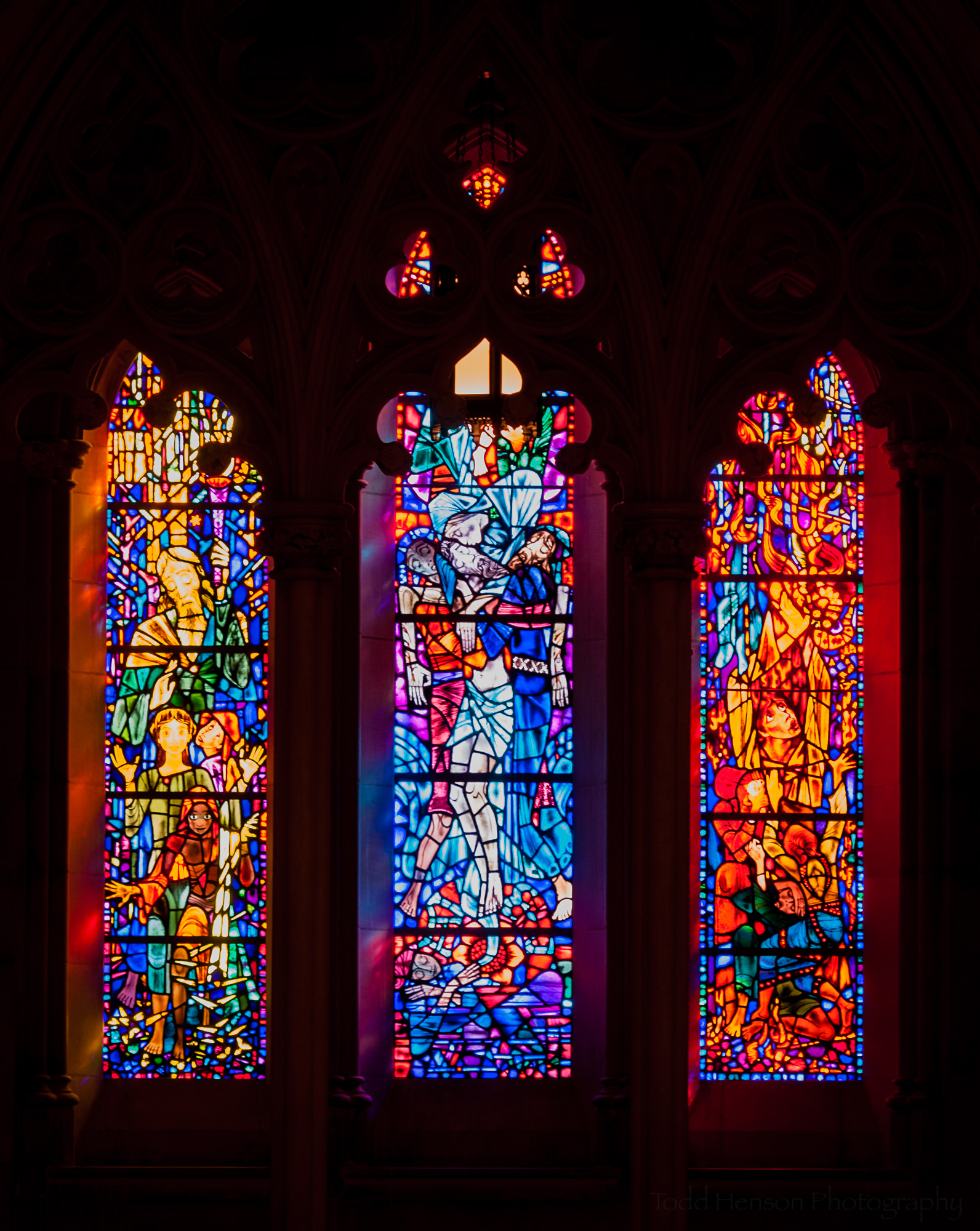 Stained glass from Washington National Cathedral.