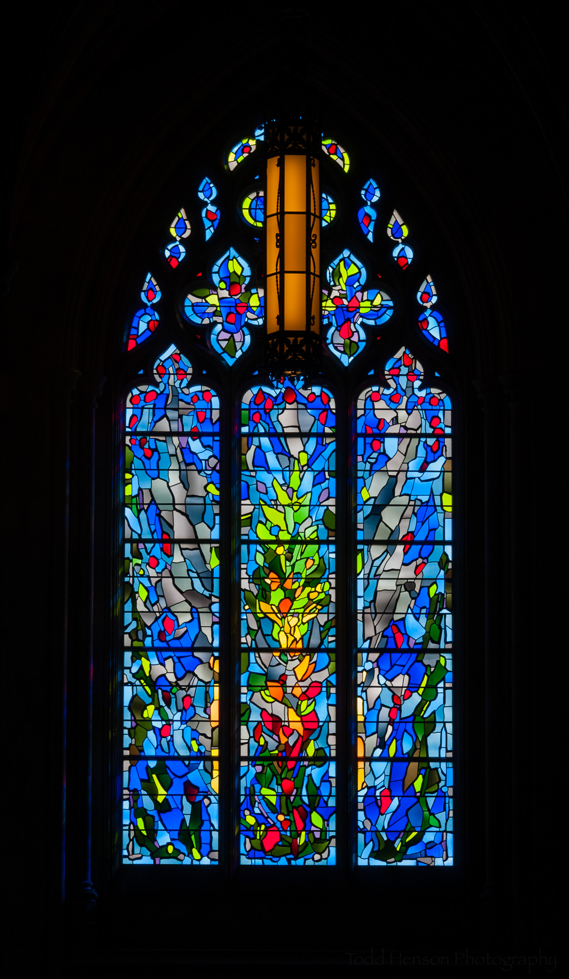 Founding of a New Nation. Stained glass window in Washington National Cathedral.