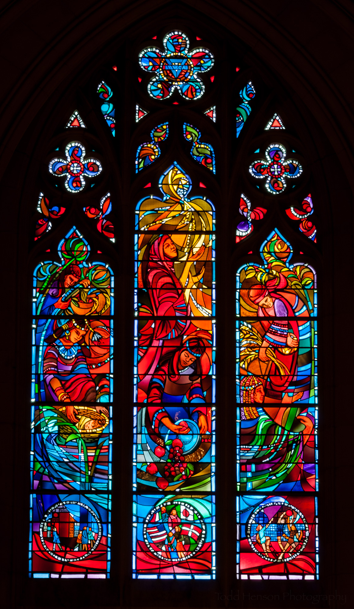 YWCA Window. Stained glass window at Washington National Cathedral.