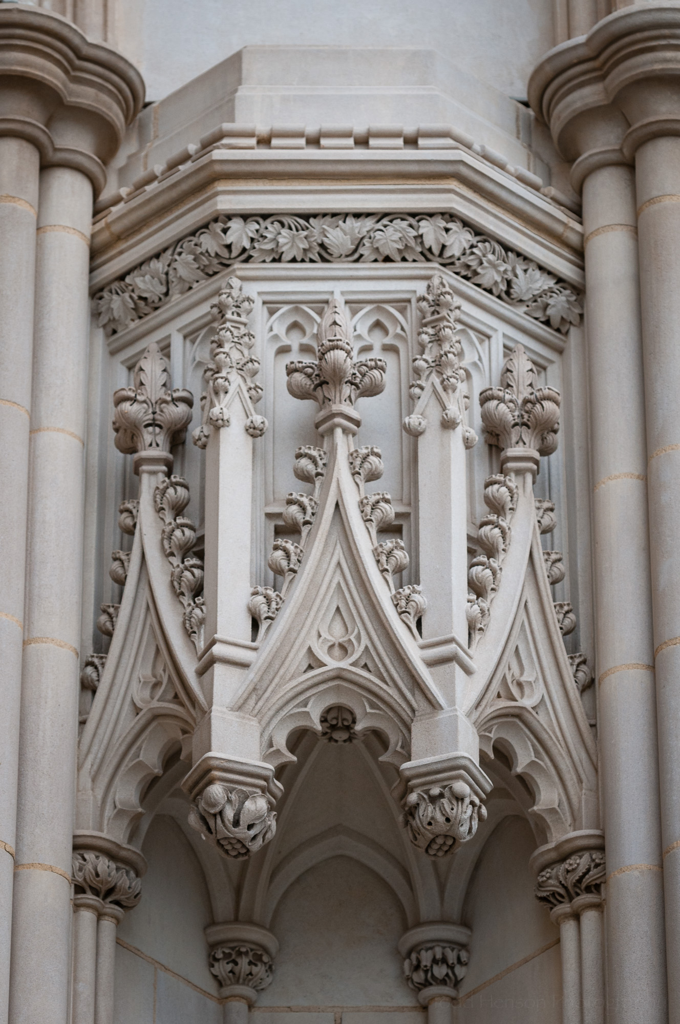 Details outside Washington National Cathedral.