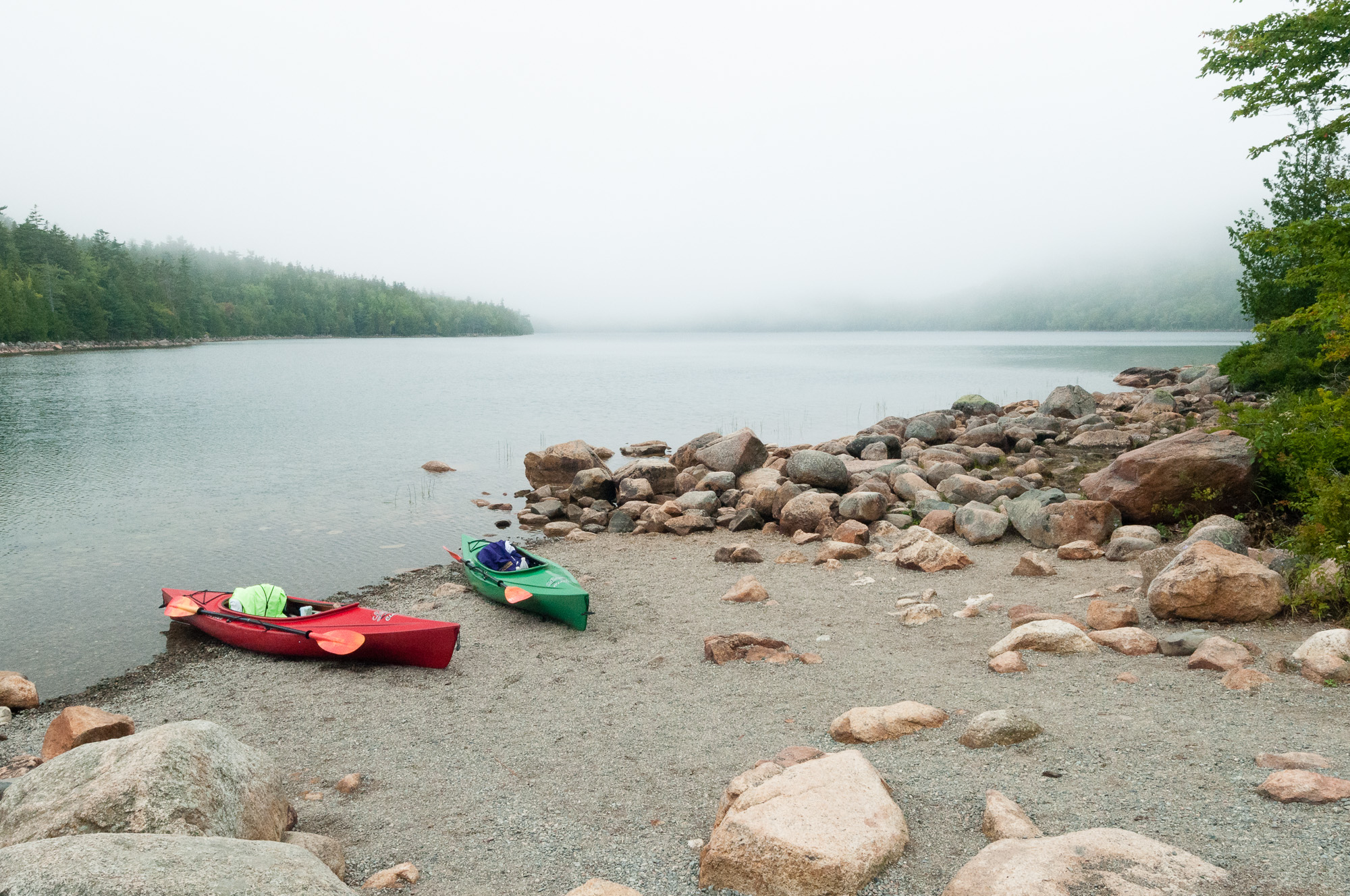 After Kayaking Jordan Pond